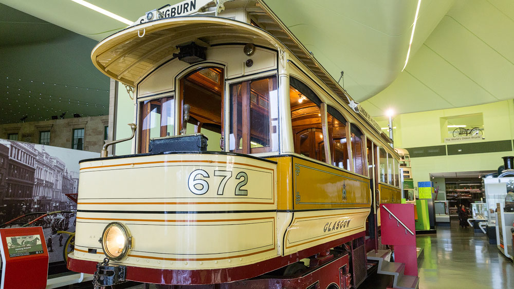 Straßenbahn im Riverside Museum