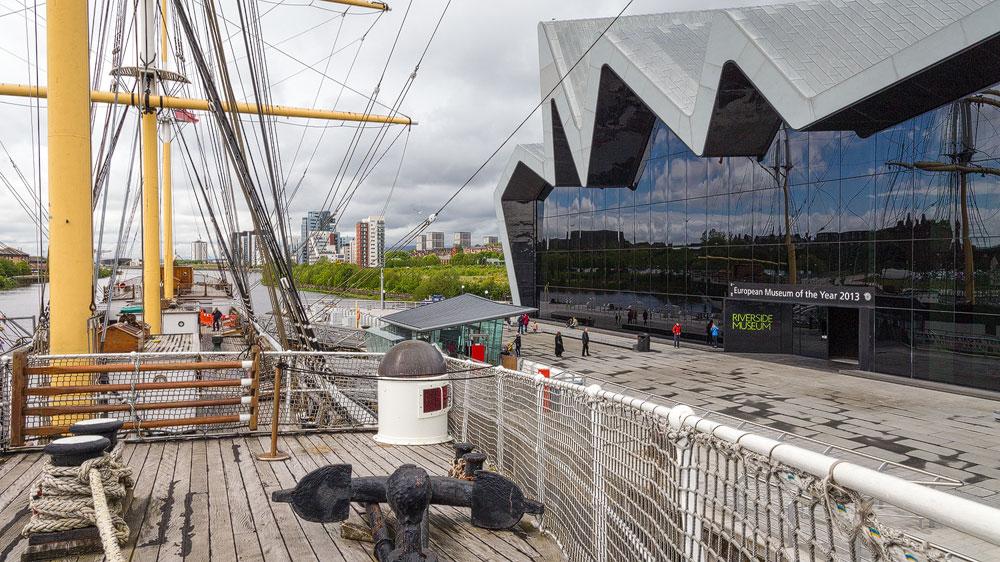 Riverside Museum und das Tall Ship