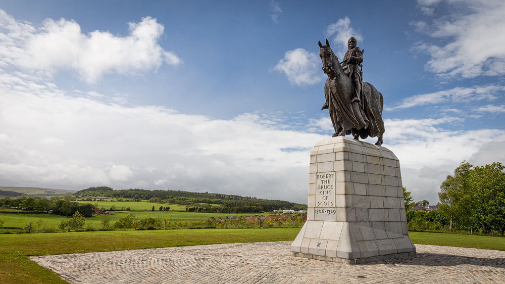 Statue Robert the Bruce bei Bannockburn
