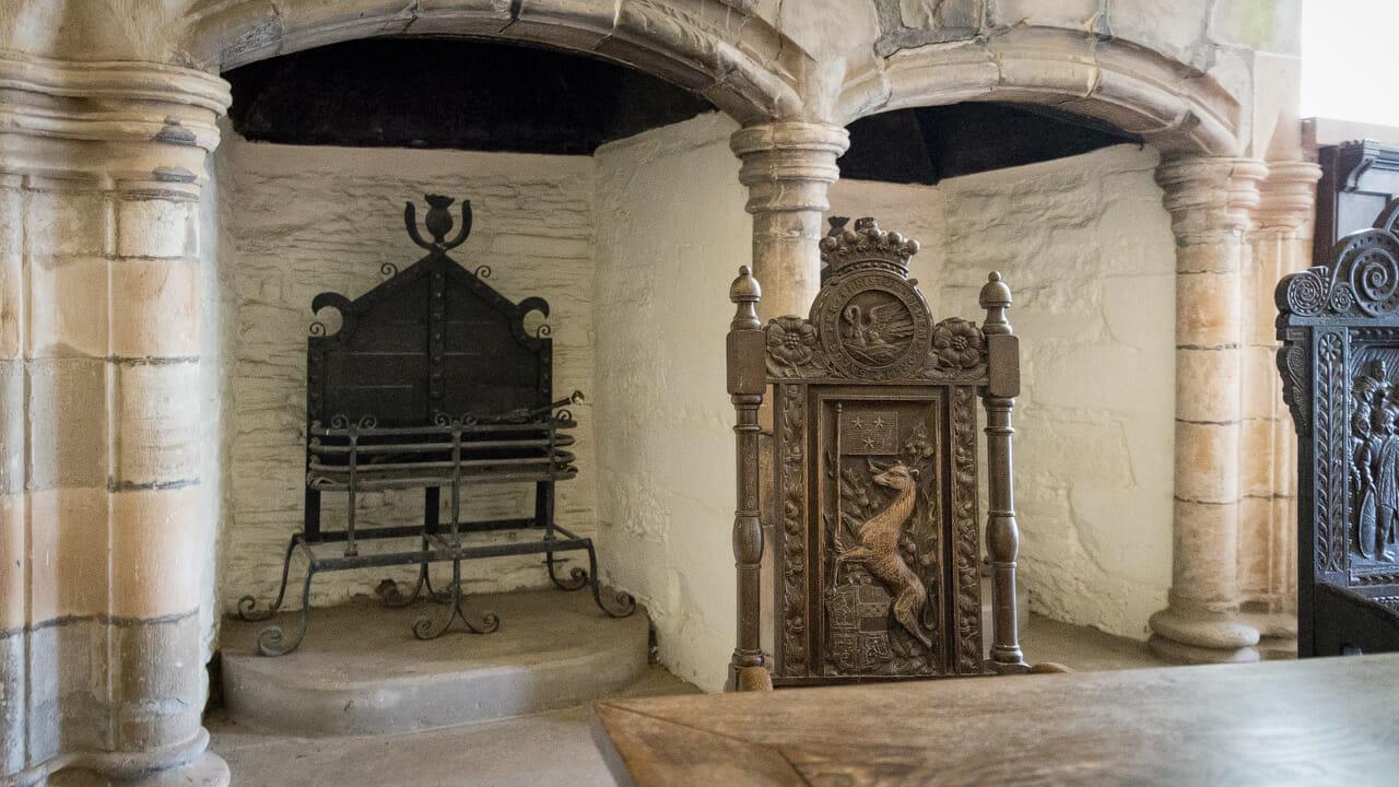 Doune Castle Kamine