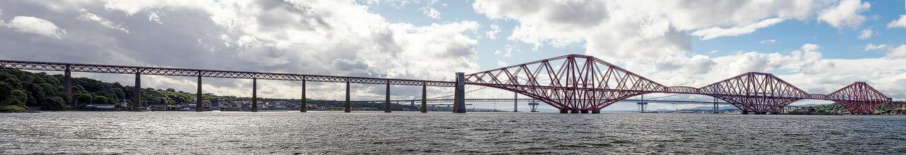 Forth-Bridge-Panorama von Osten