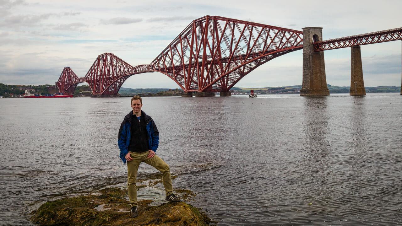 Stephan vor der Forth Bridge