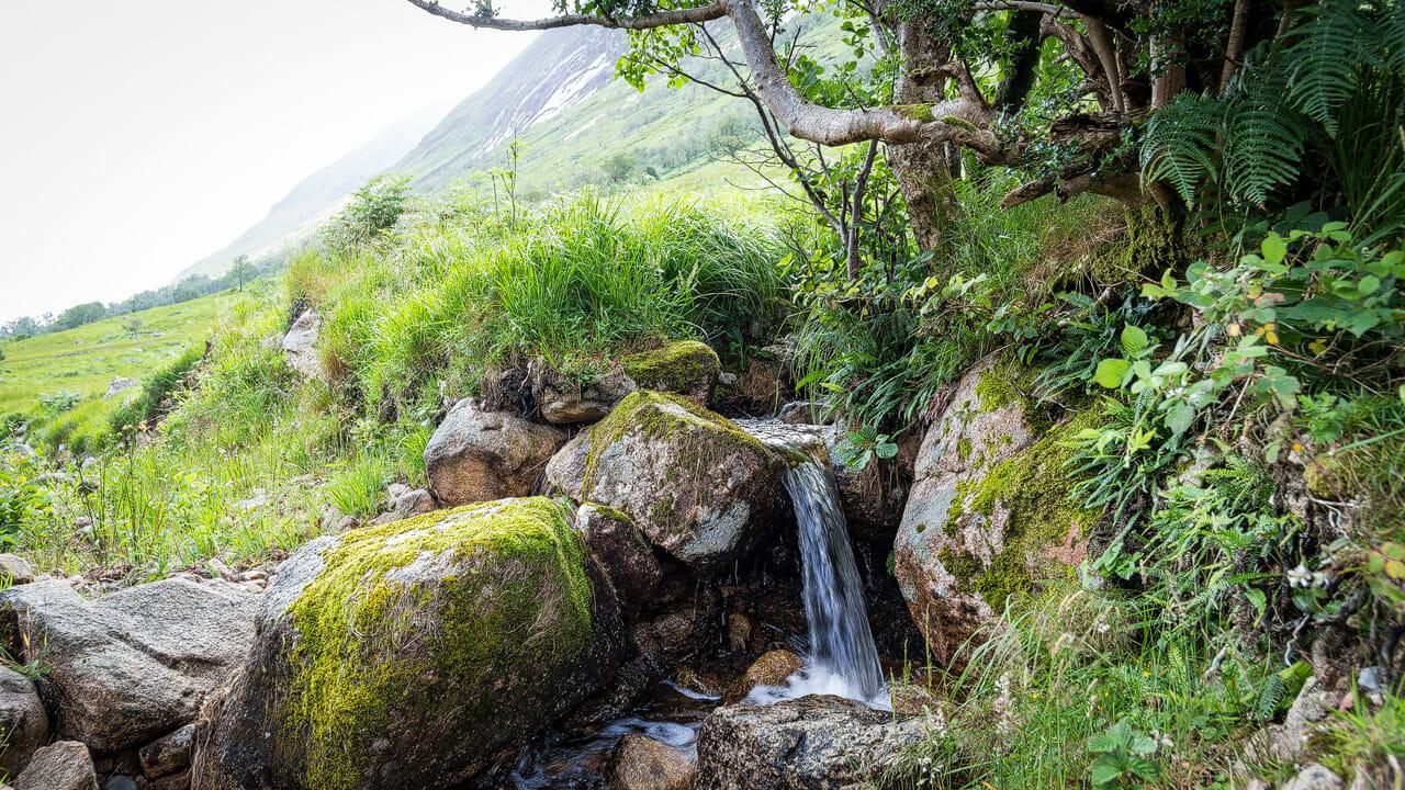Wasserfall beim Loch Etive