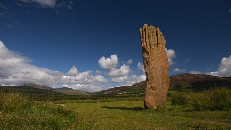 Sliabh nan Carraigean stehender Stein