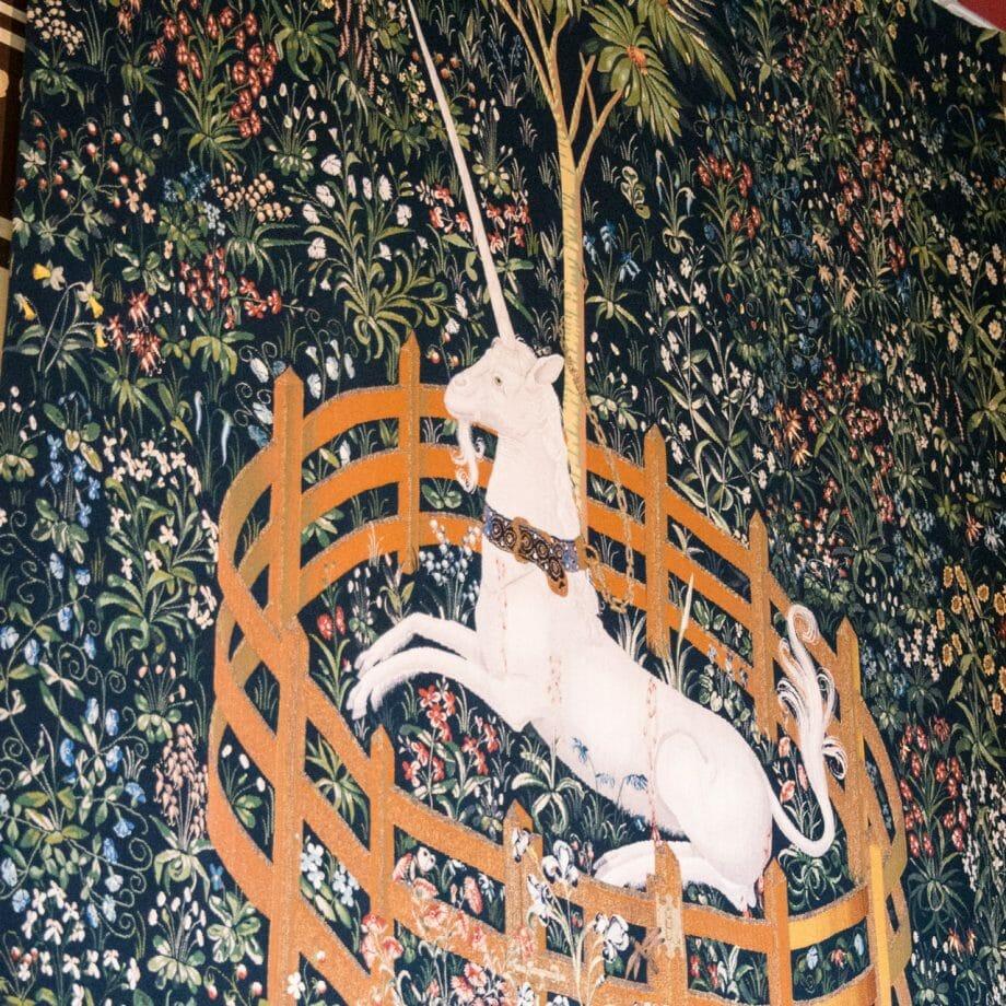 Wandteppich mit Einhorn