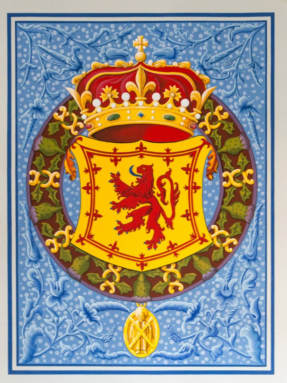 "Königswappen ""Lion Rampant"" in Stirling Castle"