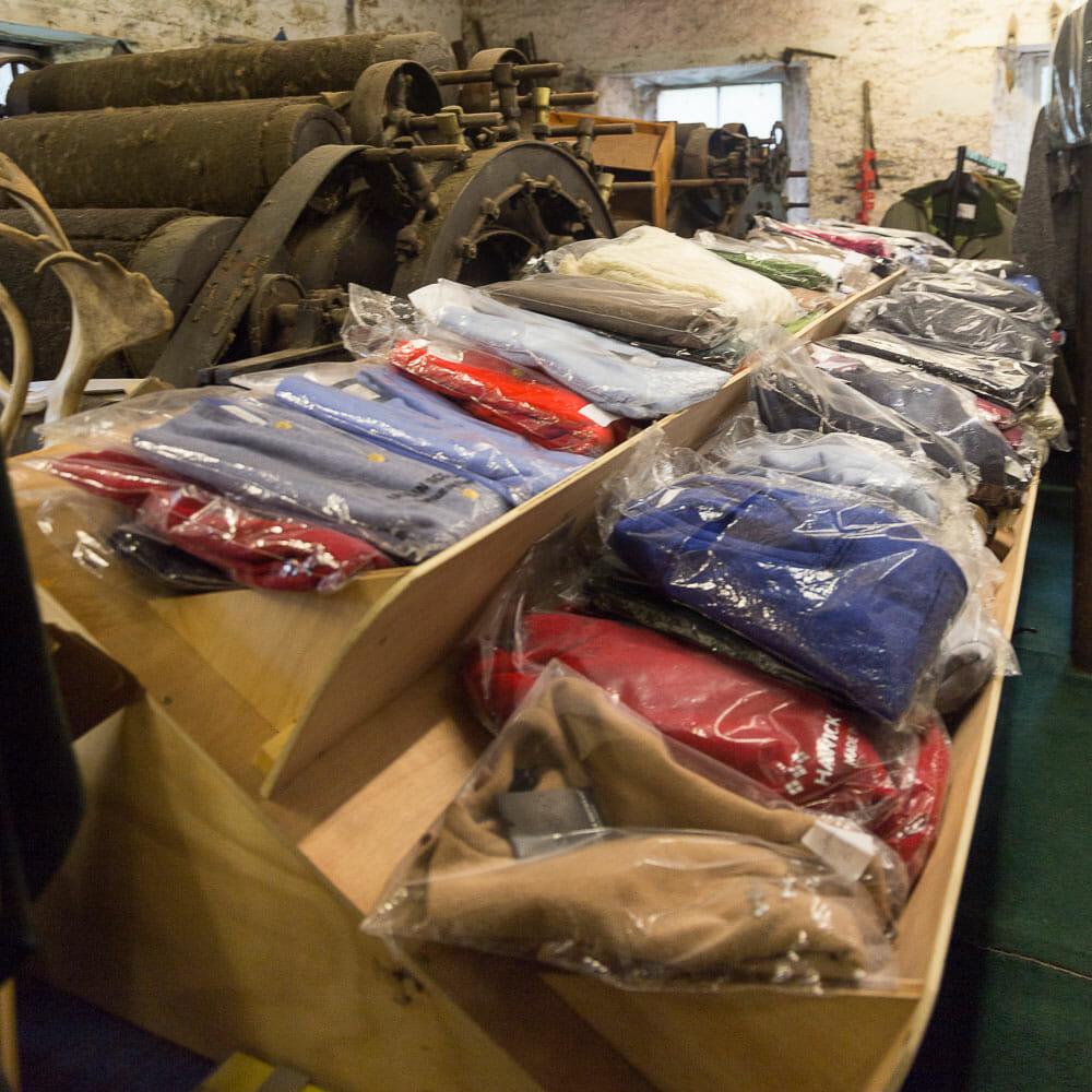 Fertige Ware in der Woolen Mill