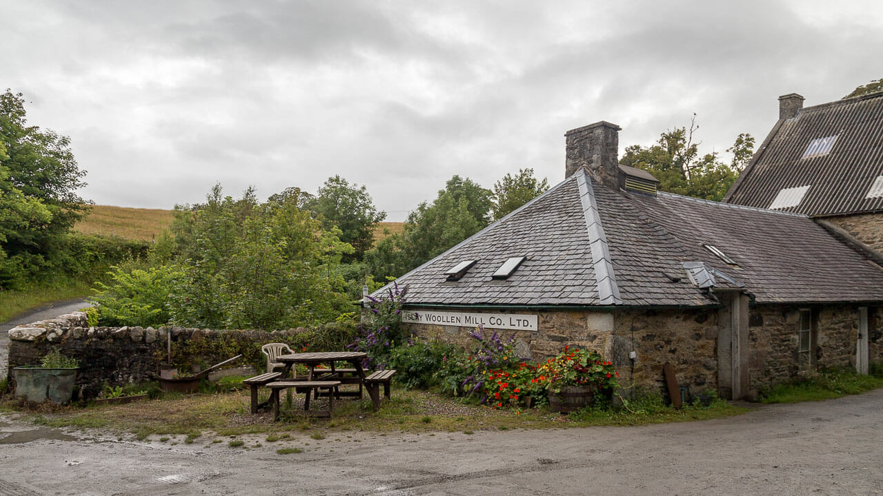 Der Platz vor der Woolen Mill