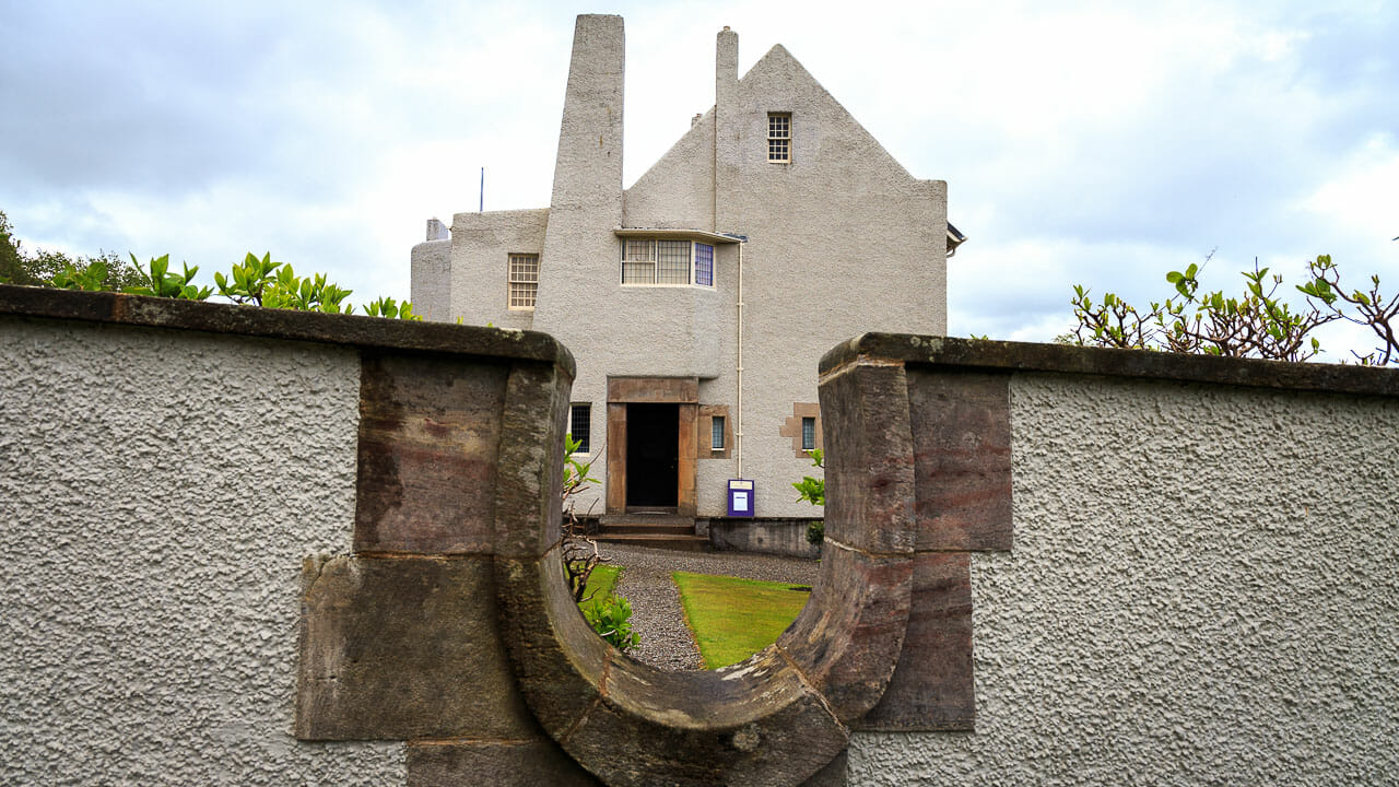 Mauer um das Hillhouse