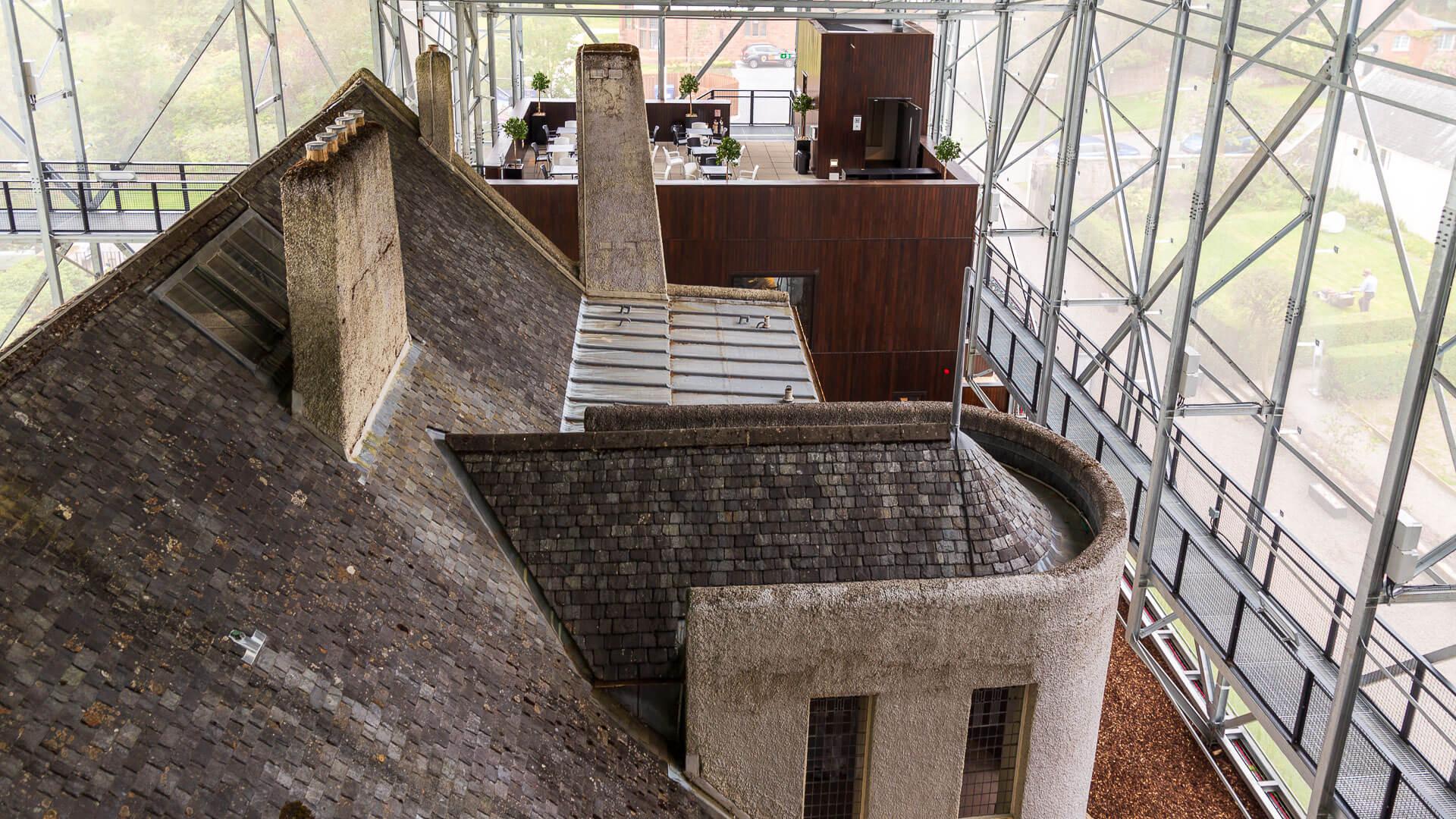 Blick auf das Dach