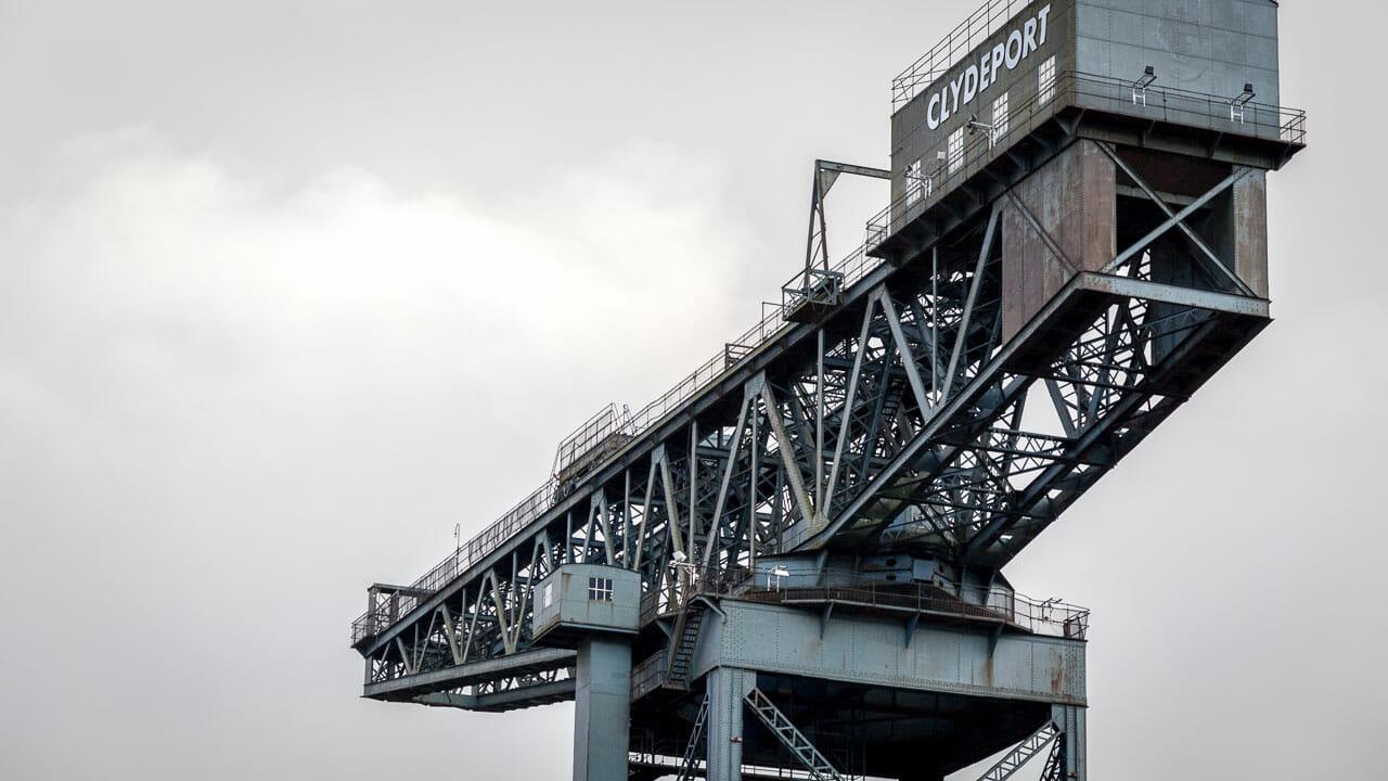 46 Meter lang ist der Ausleger des Krans