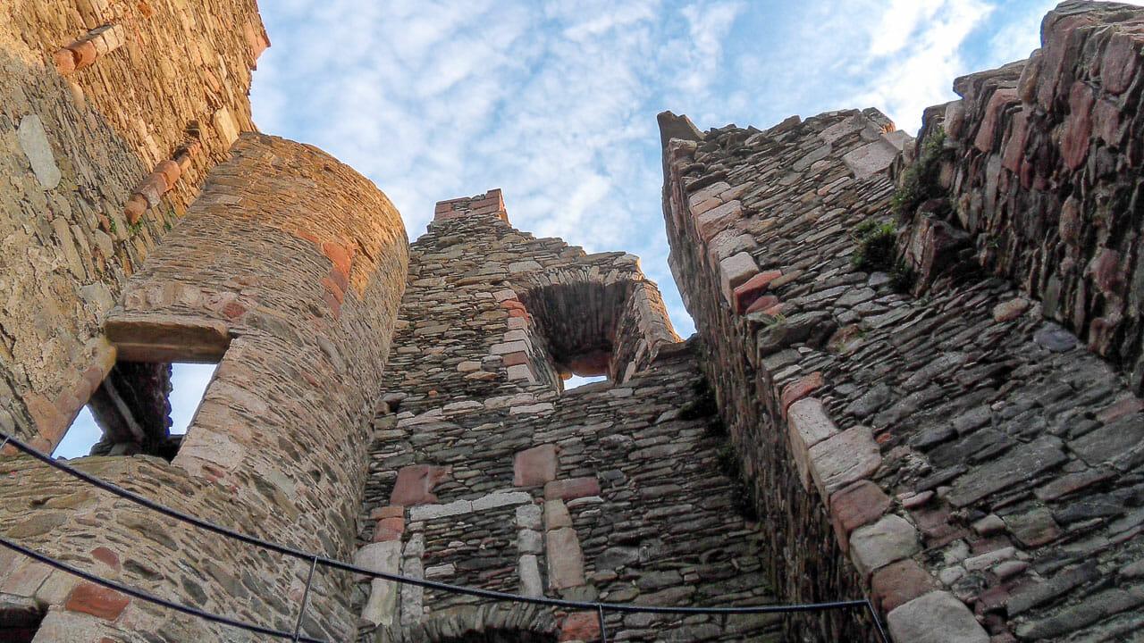 Burg Lochranza innen