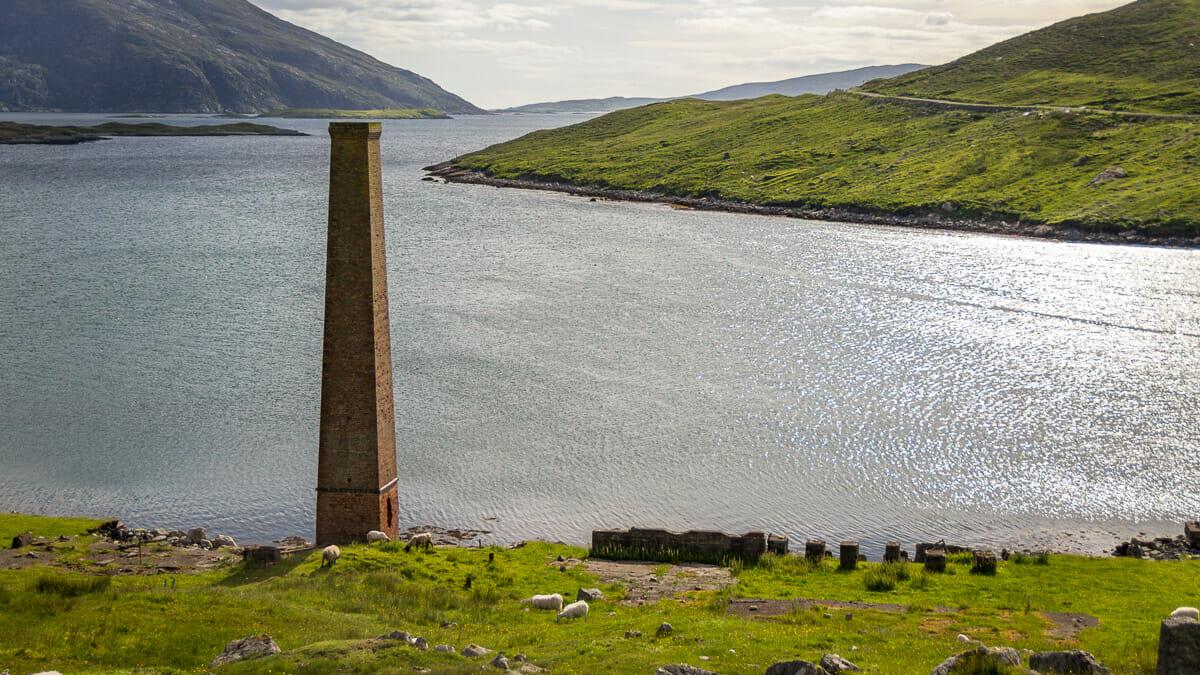 Die Überreste der alten Walfangstation