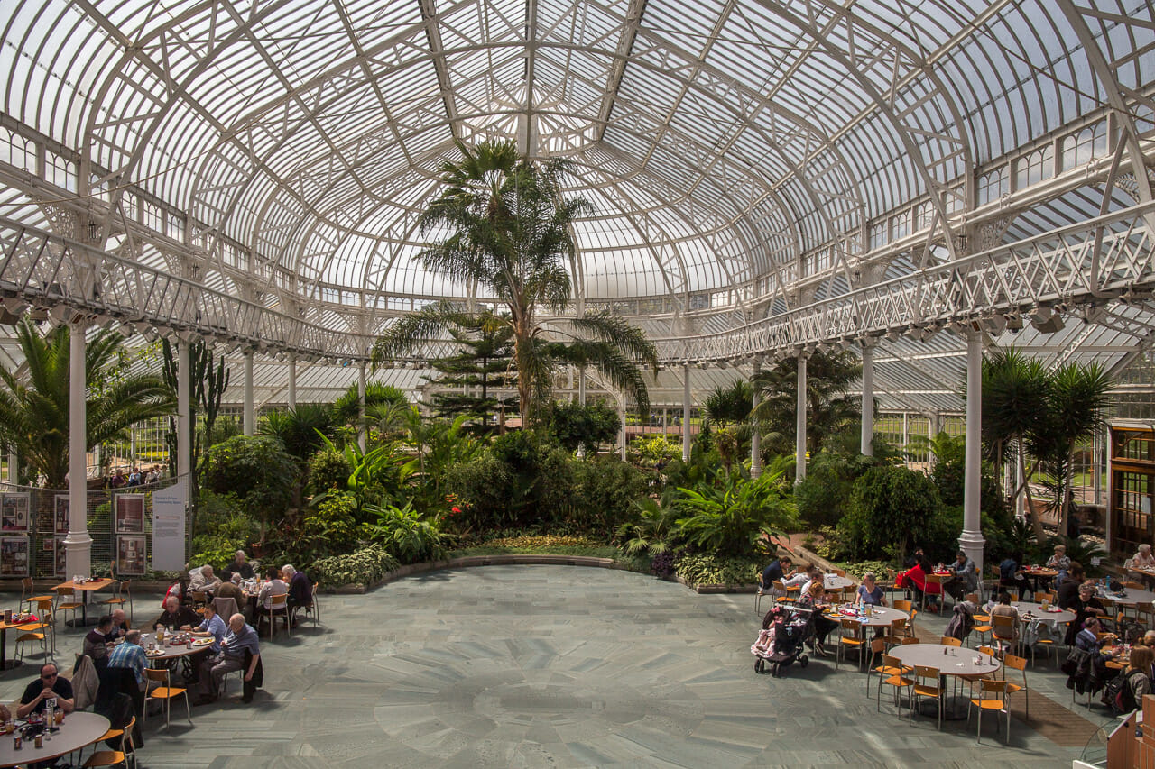 Das Innere des Wintergartens
