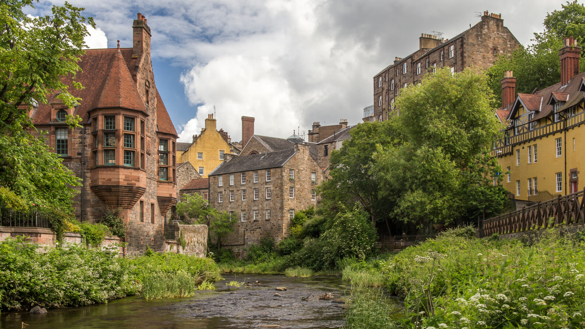 Dean Village am Fluss Leith