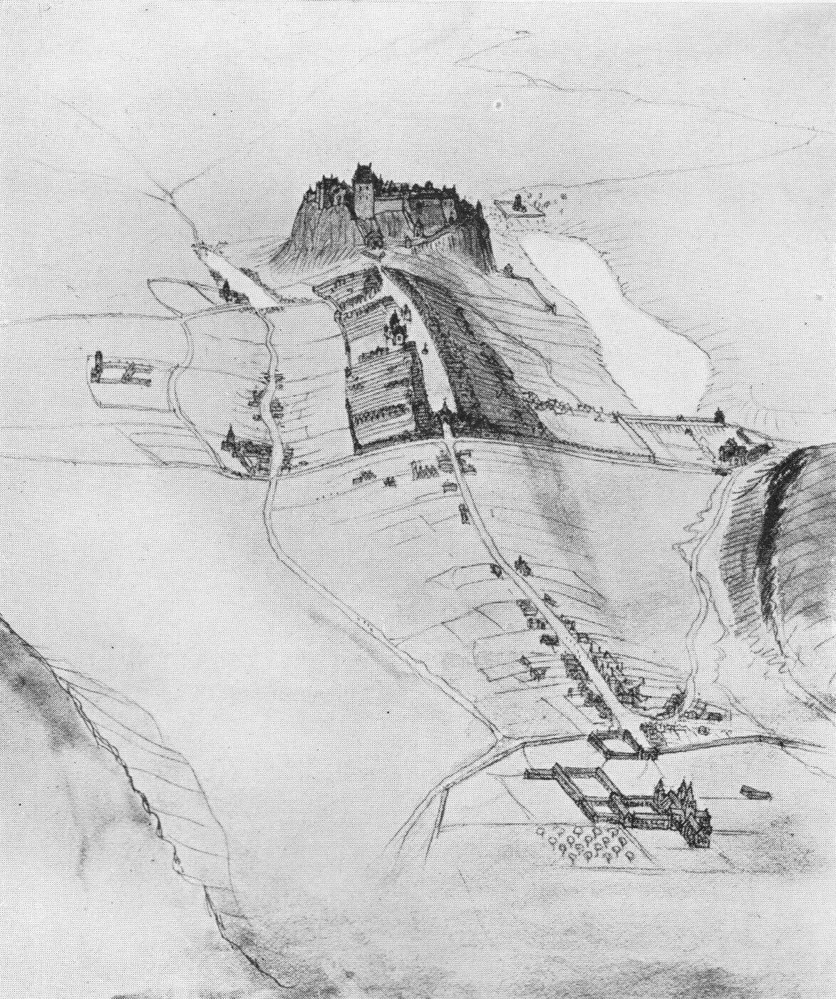 Edinburgh im 12. Jahrhundert