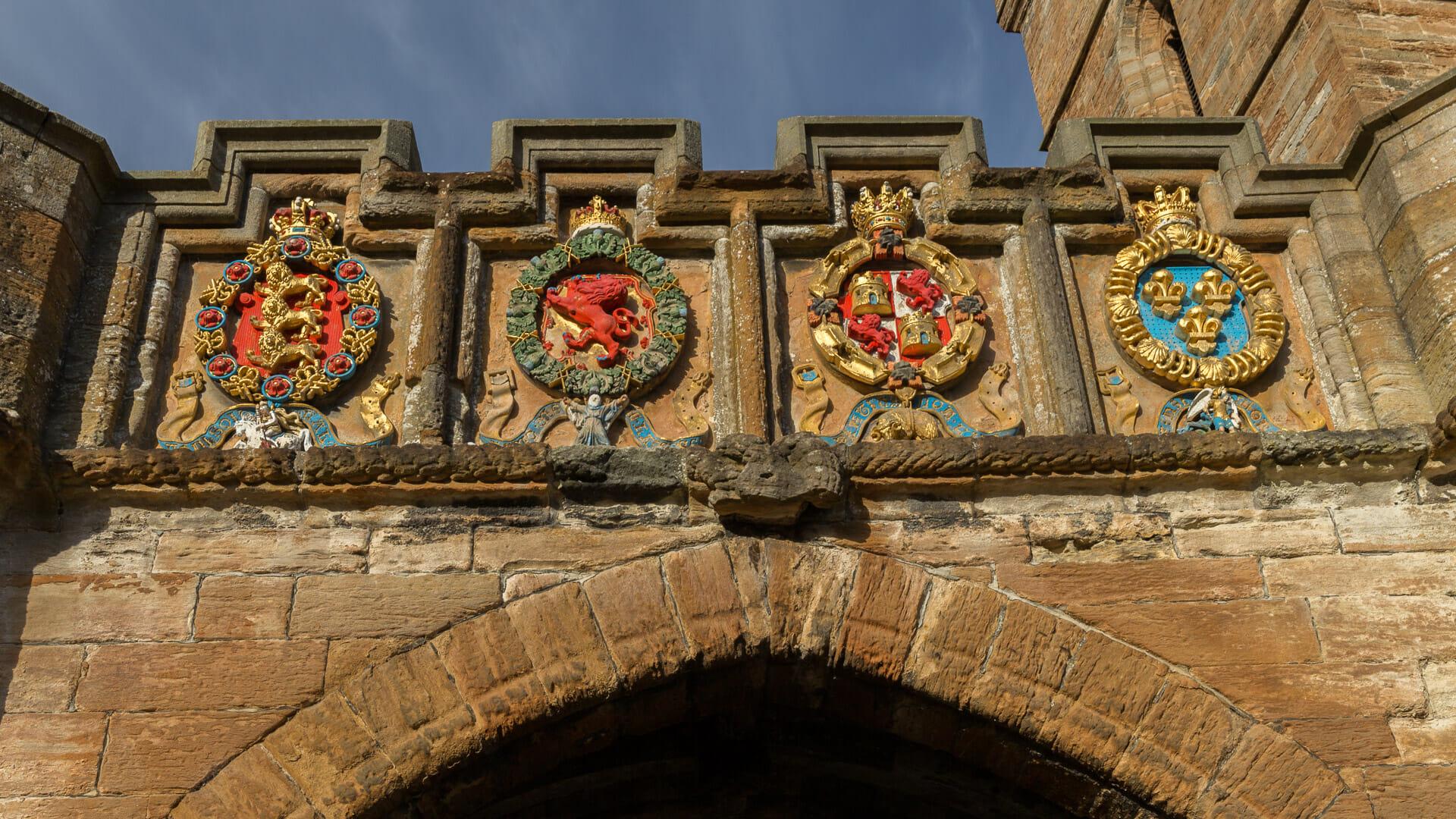 Wappen am Eingang