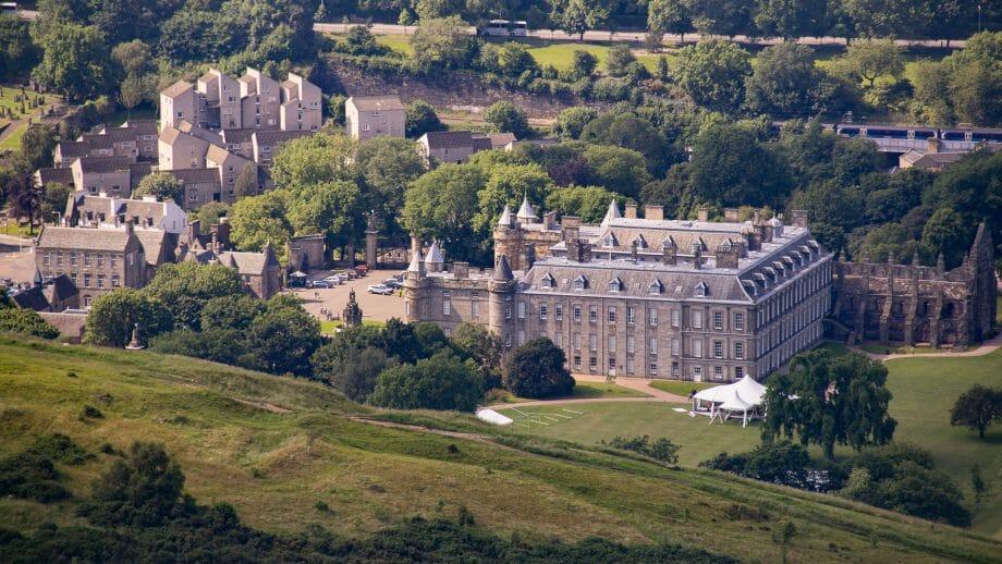 Palace of Hollyrood von oben