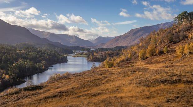 Blick vom Glen Affric Viewpoint