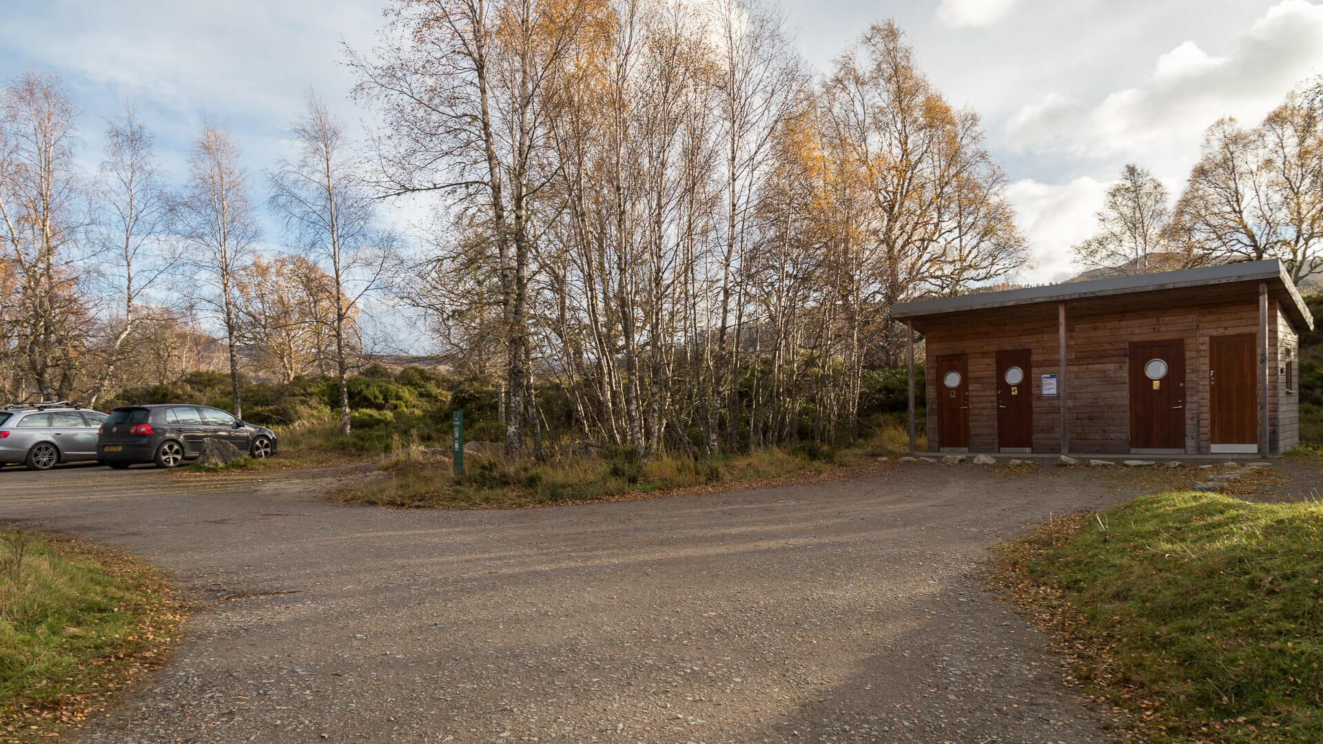 Parkplatz Glen Affric