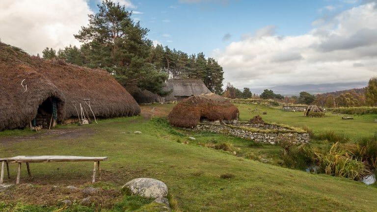 Das alte Dorf im Highland Folk Museum