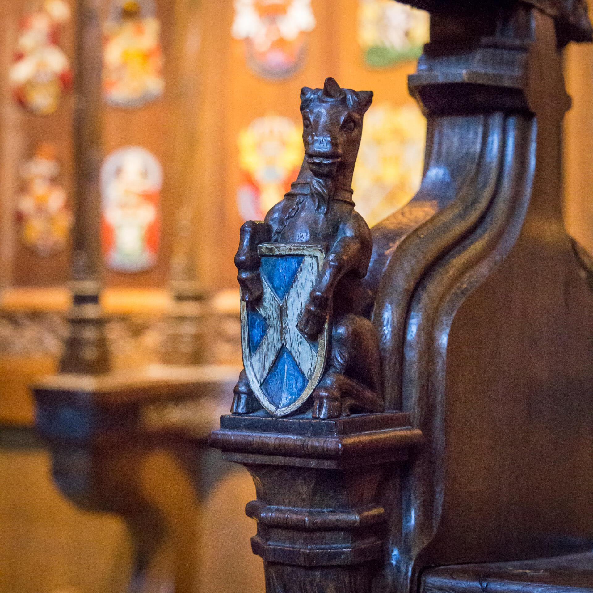 Einhorn in der Thistle Chapel