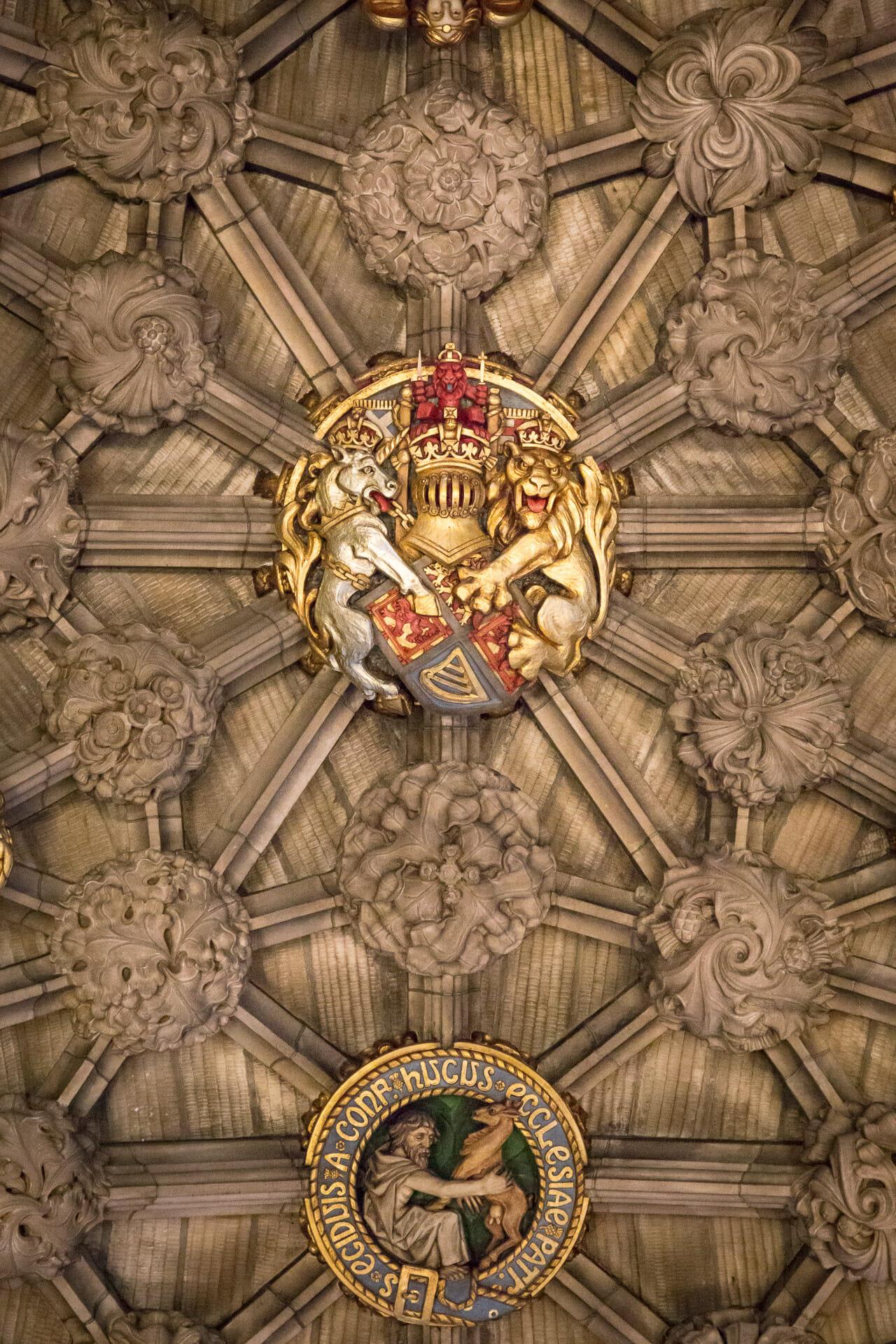 Decke in der Thistle Chapel