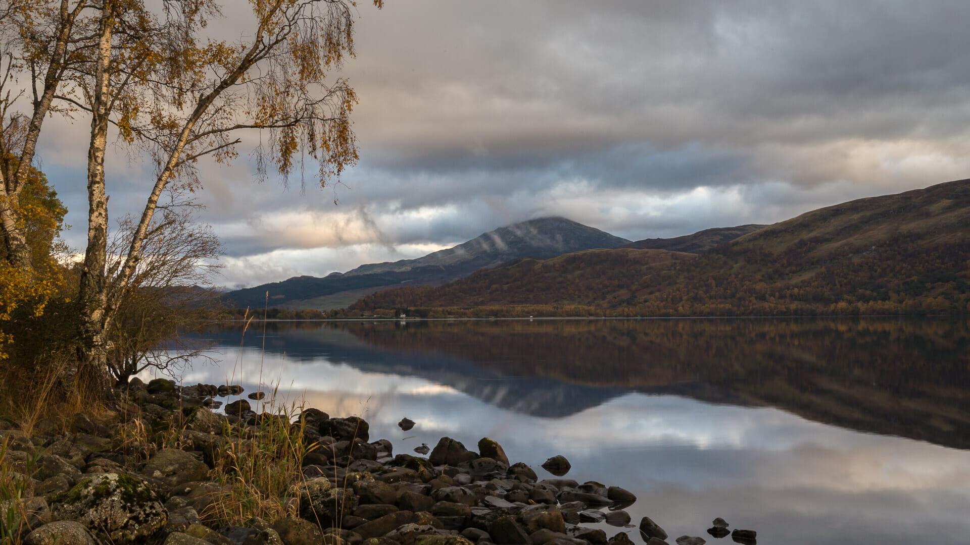 Schiehallion vom Loch Rannoch aus