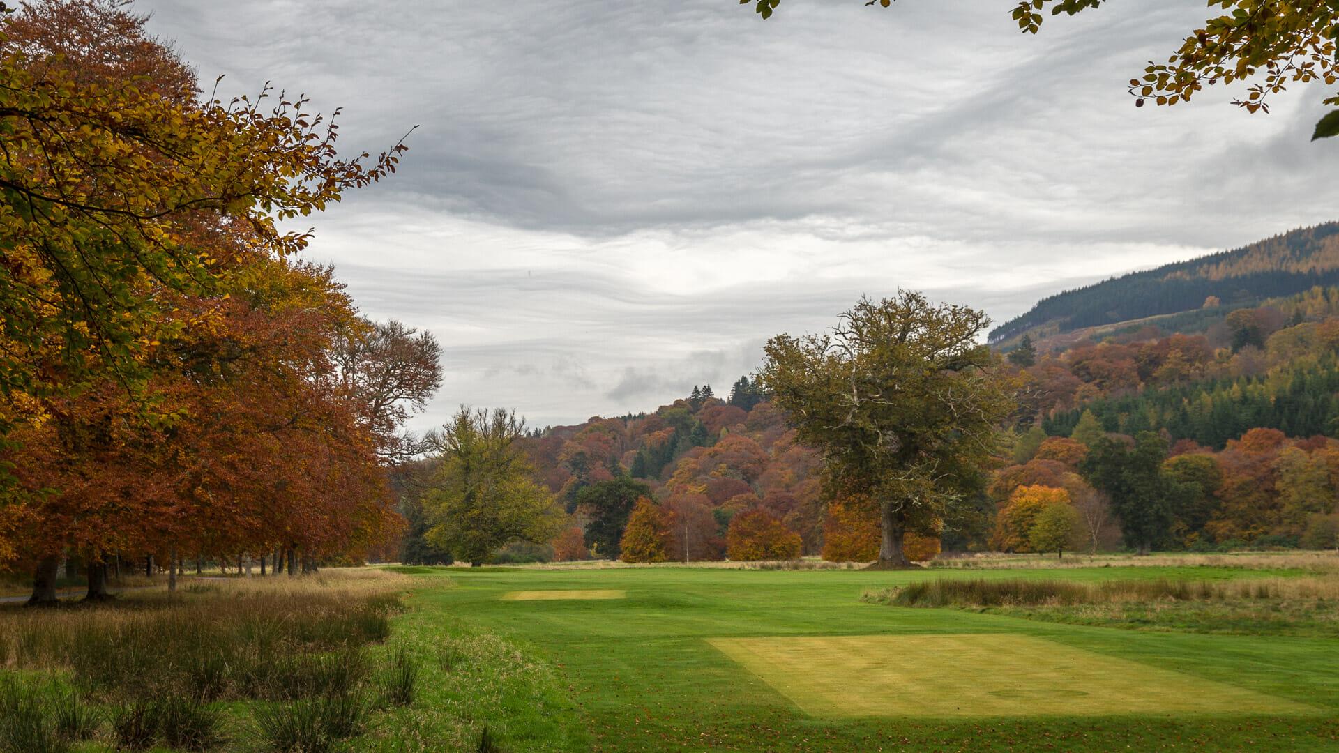 Golfplatz und Park