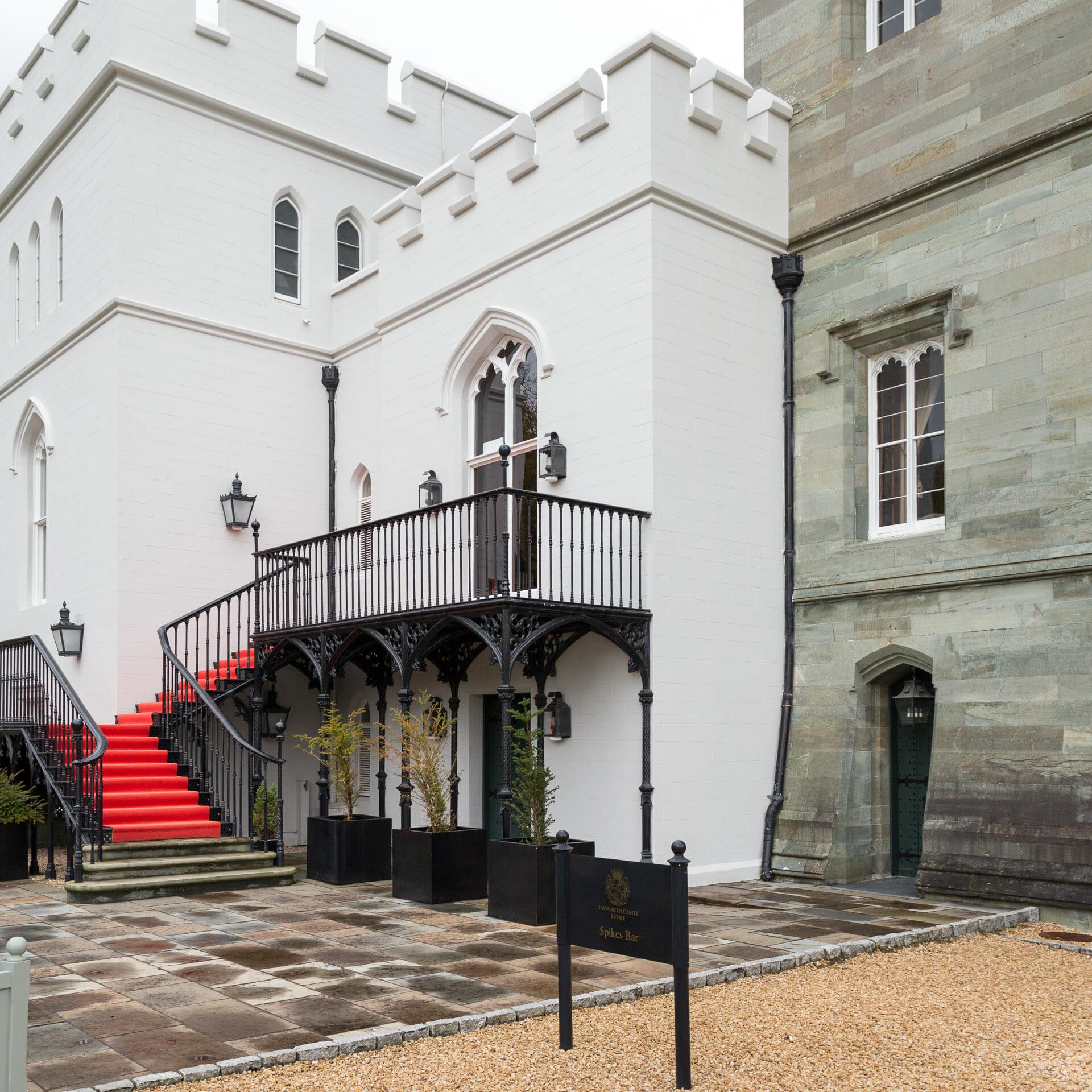 Treppe für das Hochzeitsbild