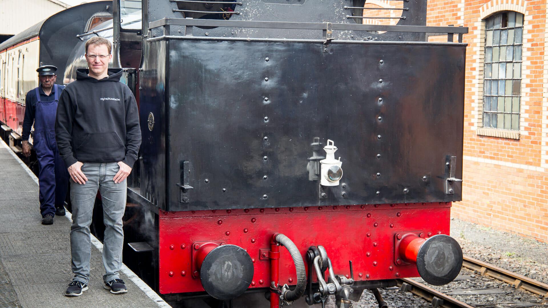 Ich an der Lokomotive