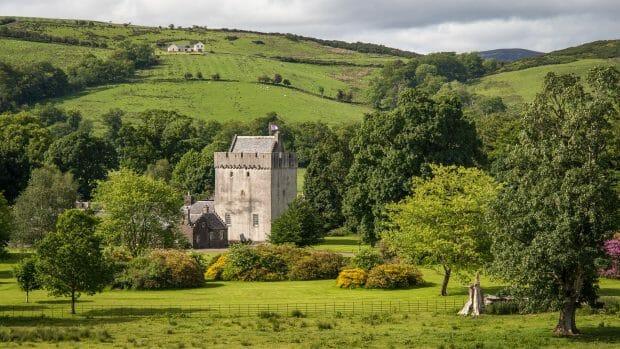 Kames Castle auf der Isle of Bute
