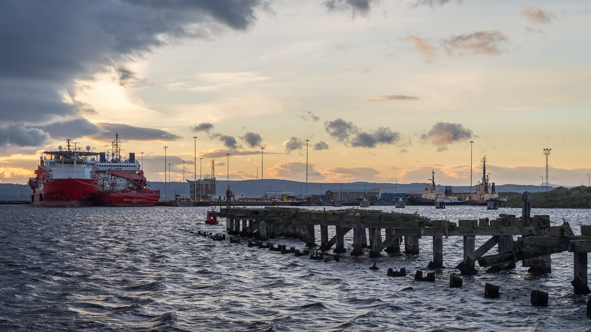 Am Ocean-Terminal von Leith