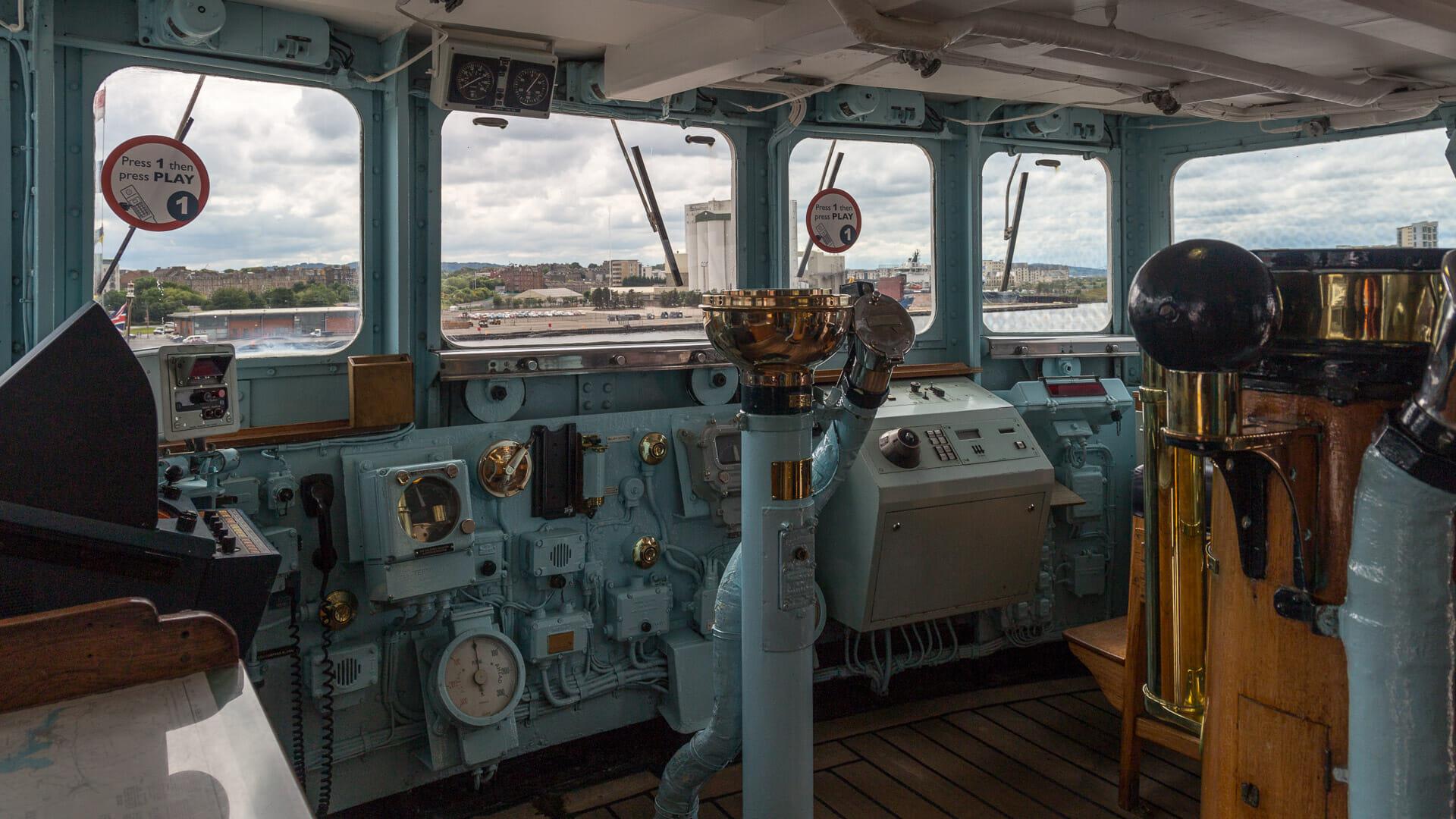 Die Brücke der Royal Yacht
