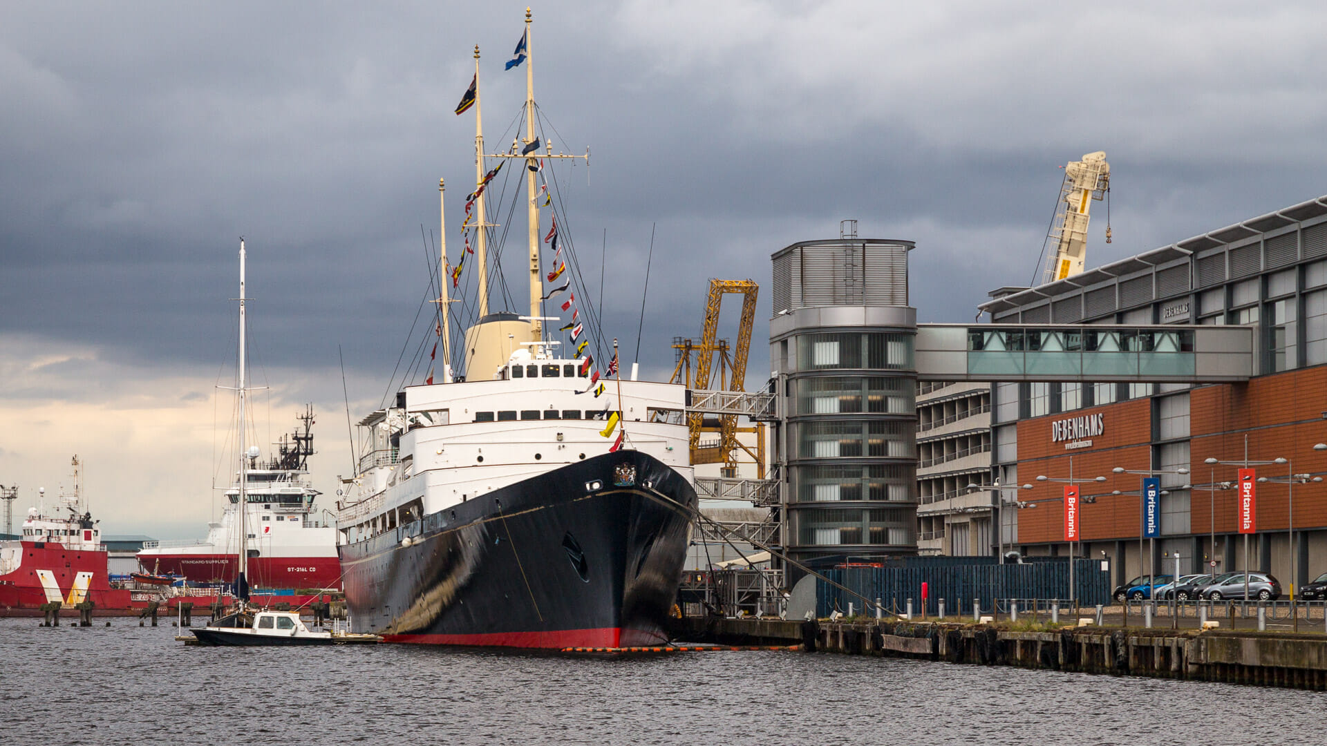 Die Royal Yacht Britannia in Leith
