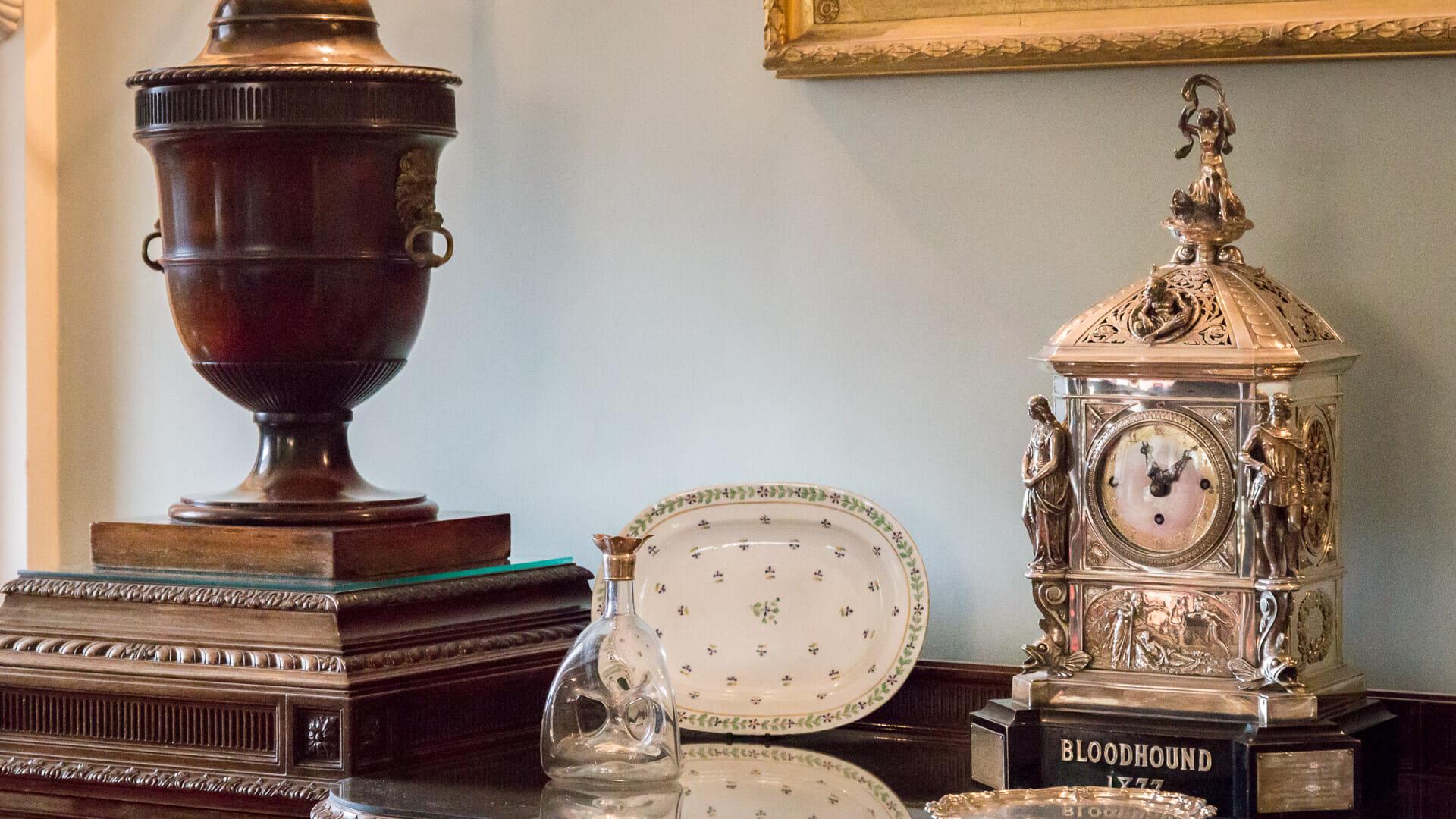 Silberne Uhr von Lund & Brockley