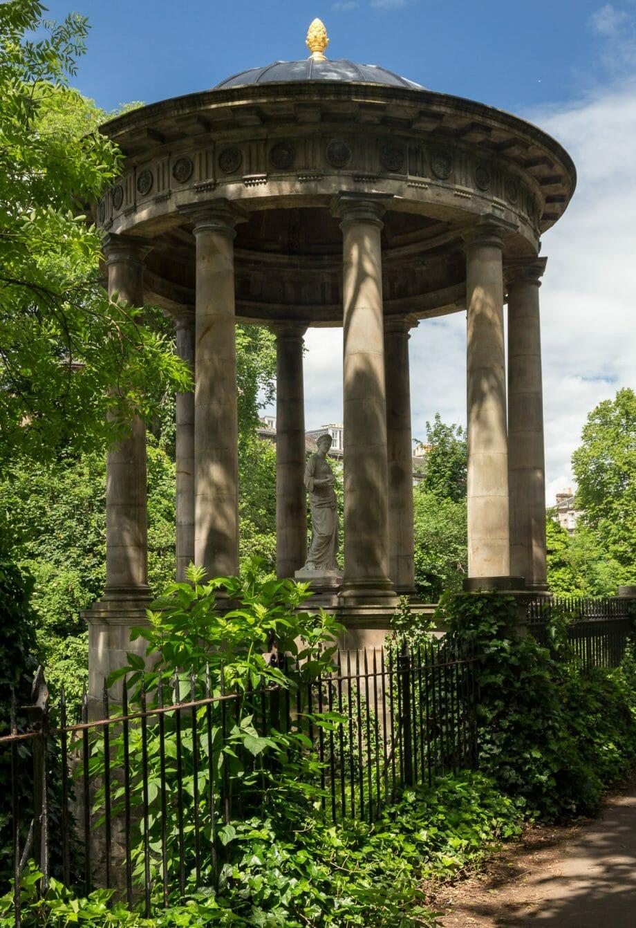 St Bernard's Well auf dem Rückweg