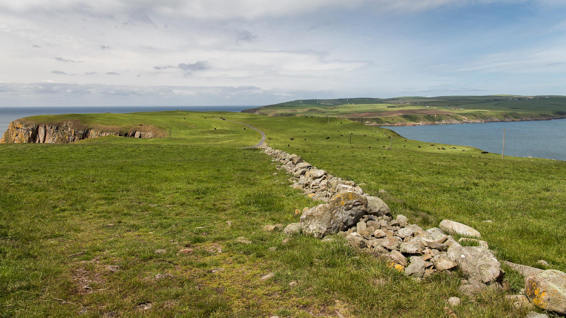 Blick über den Mull of Galloway landeinwärts