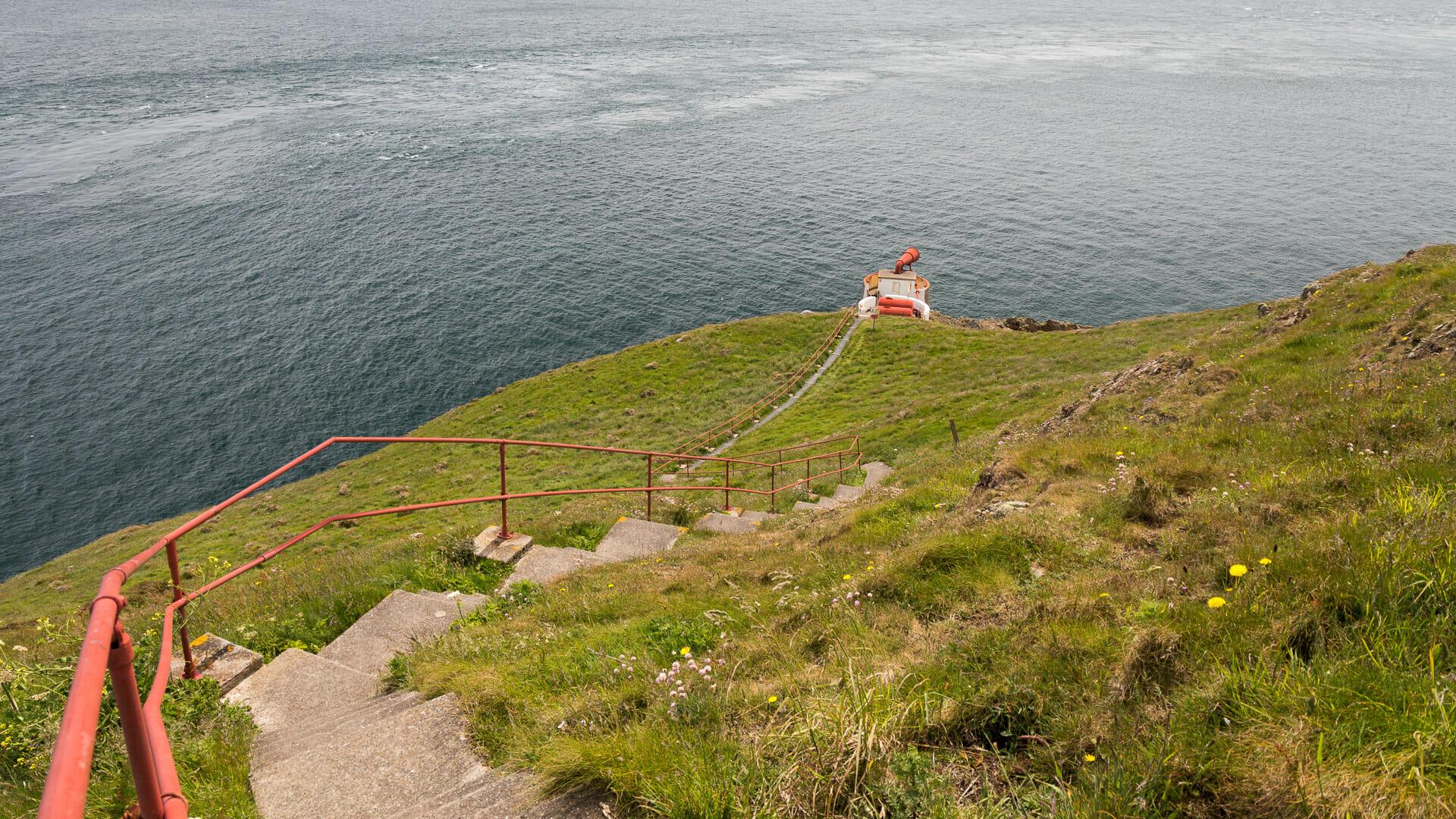 Die Treppe zum Nebelhorn