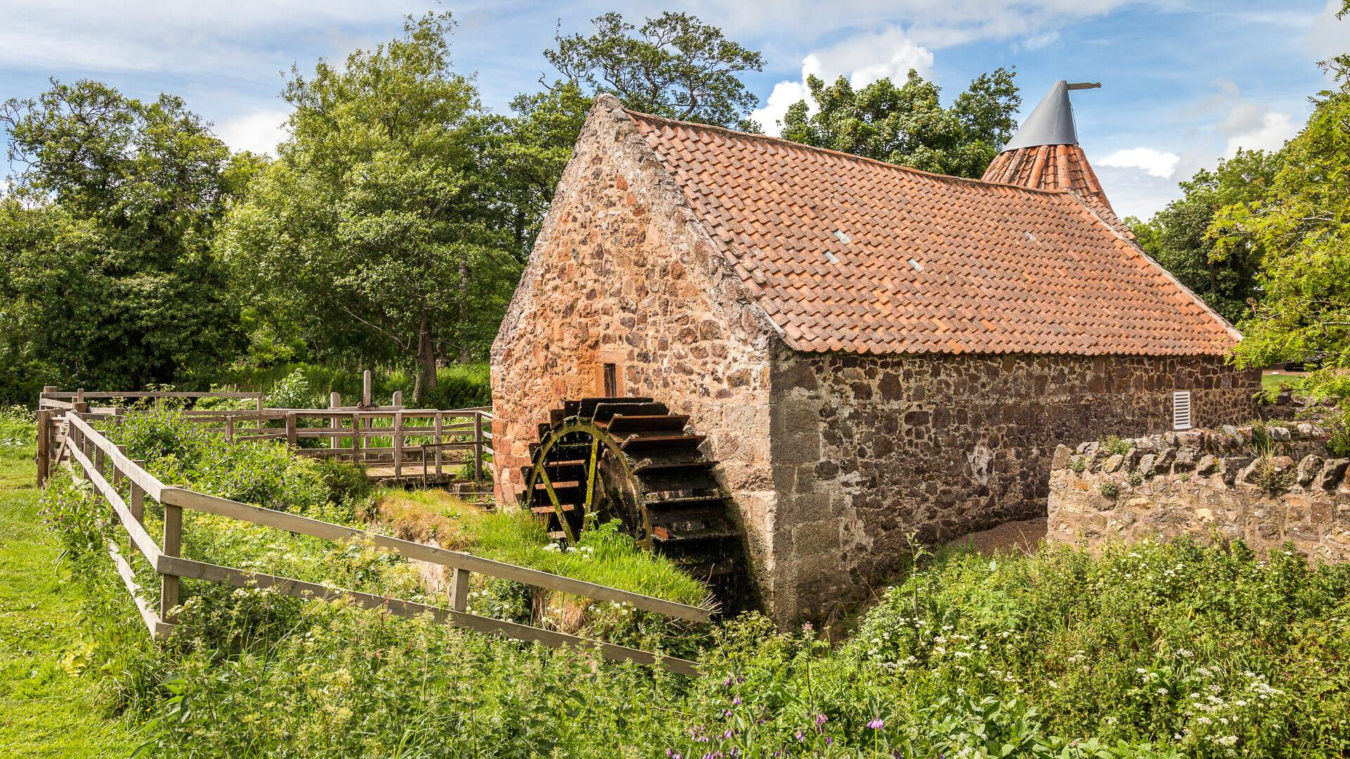 Mühlrad der Preston Mill