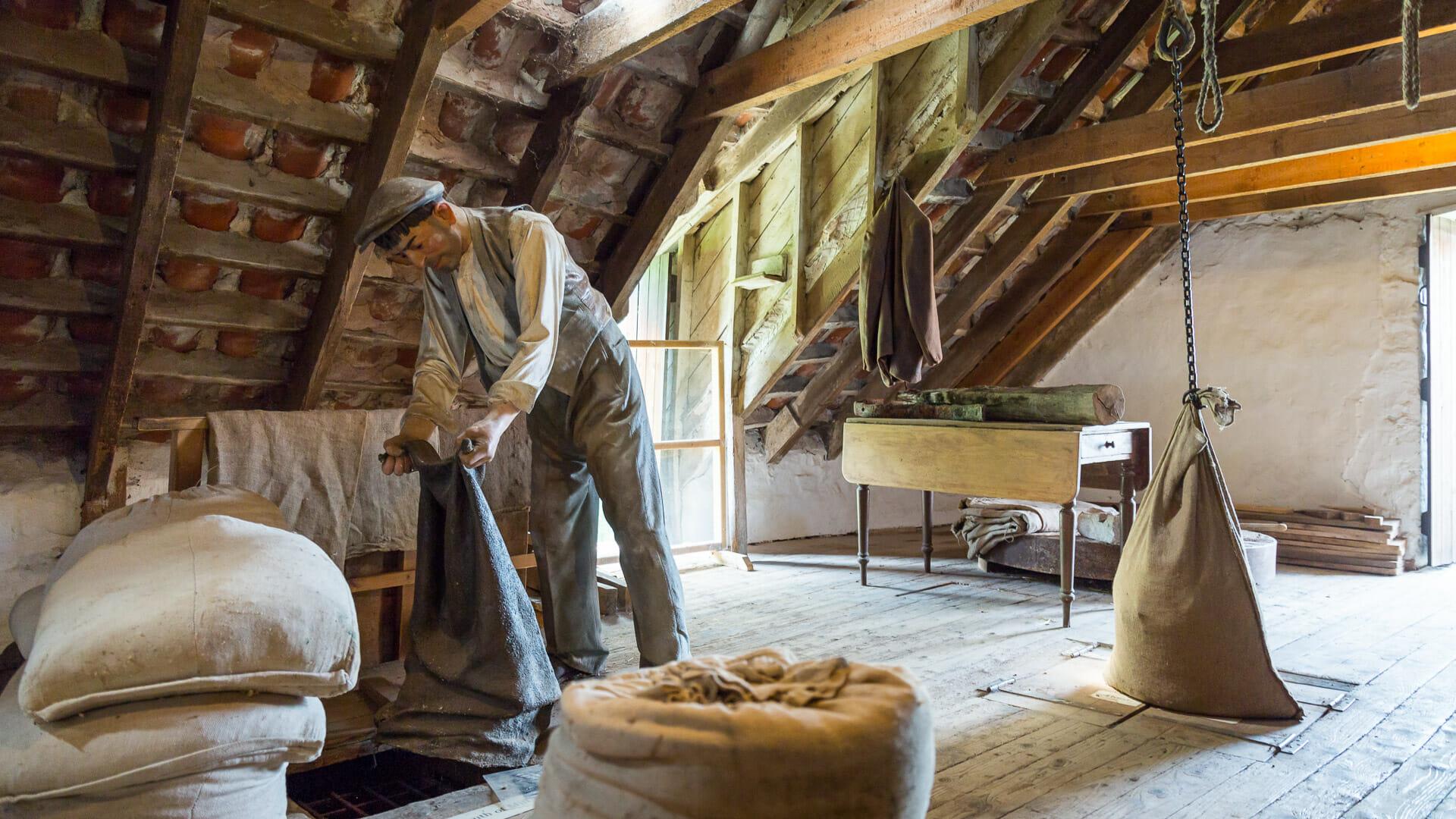 Im Inneren der Mühle