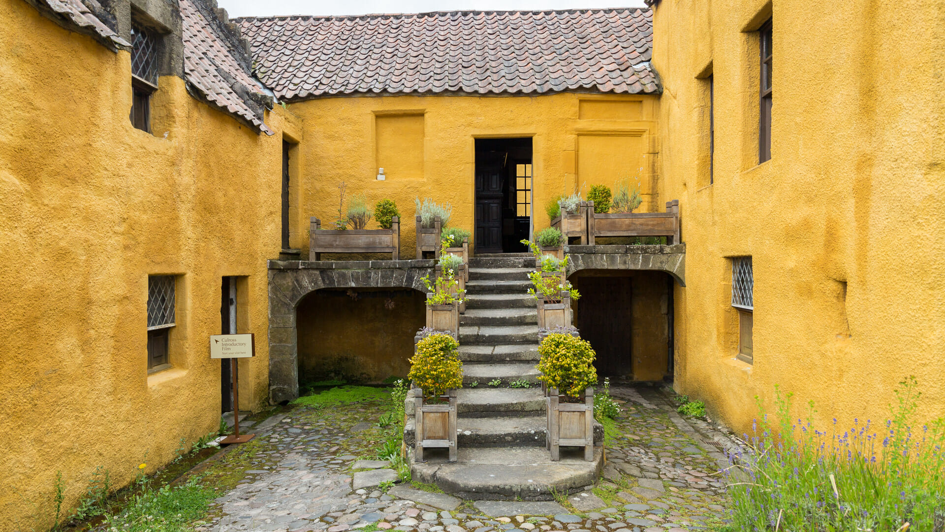 Treppenaufgang des Culross Palace