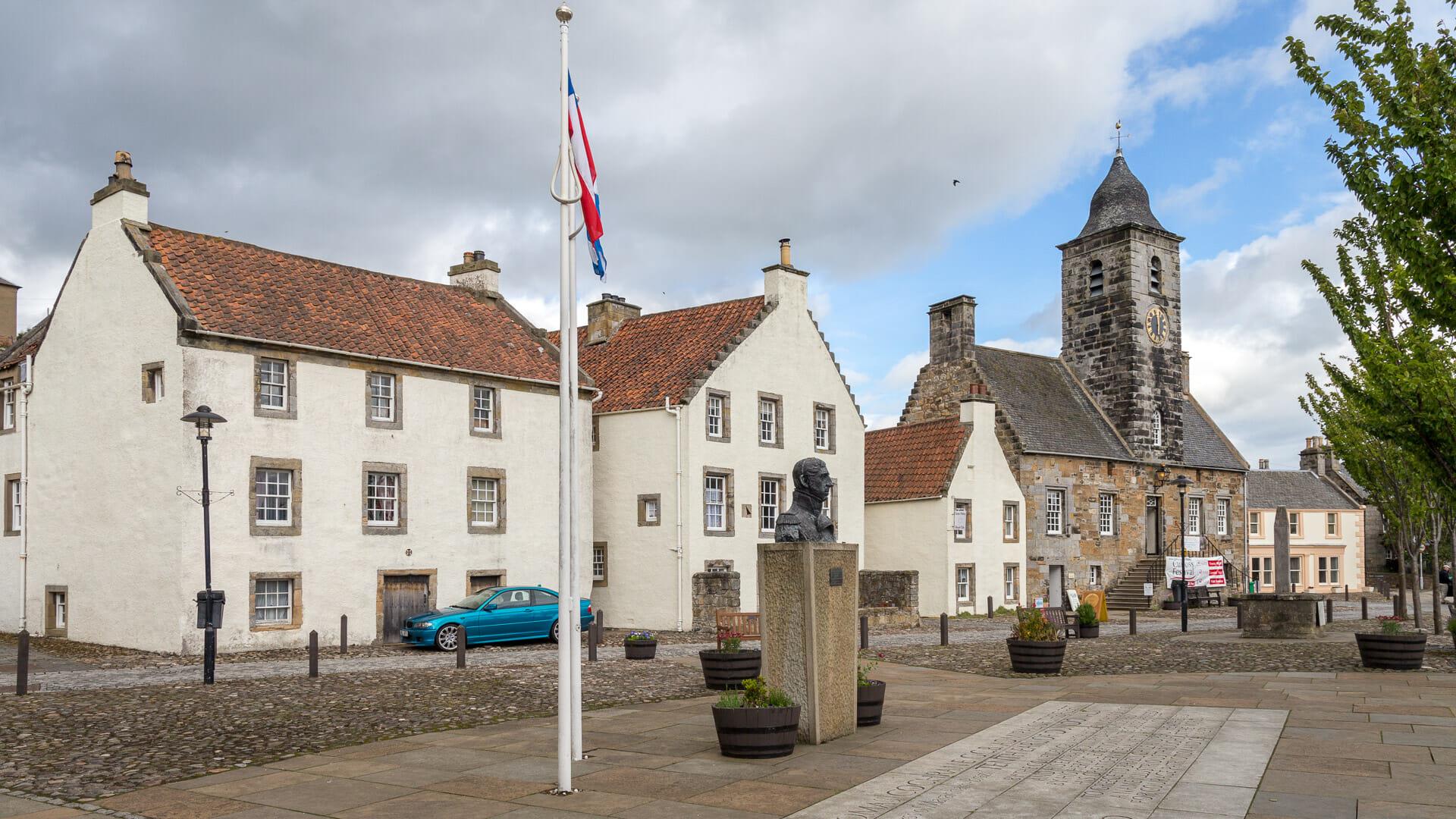 Der Platz vor dem Rathaus