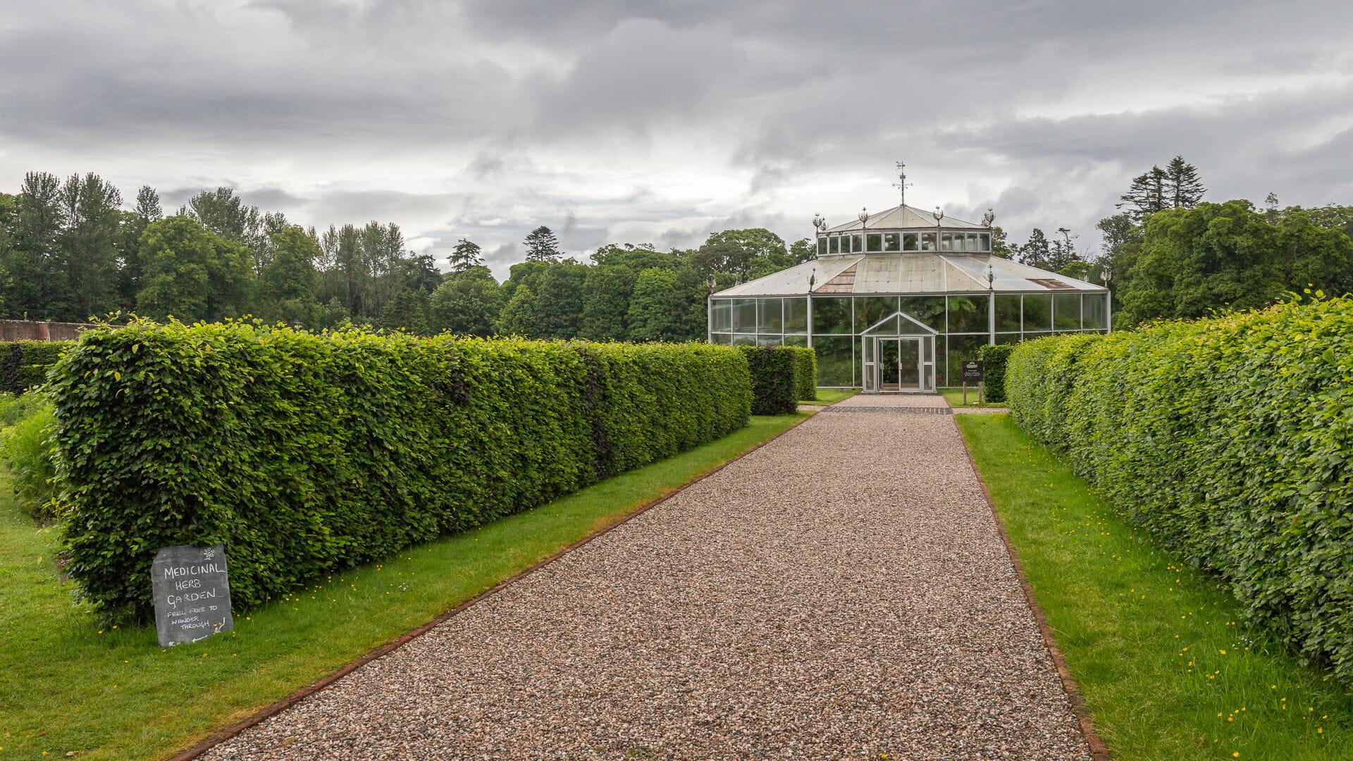 Gewächshaus in den Gärten