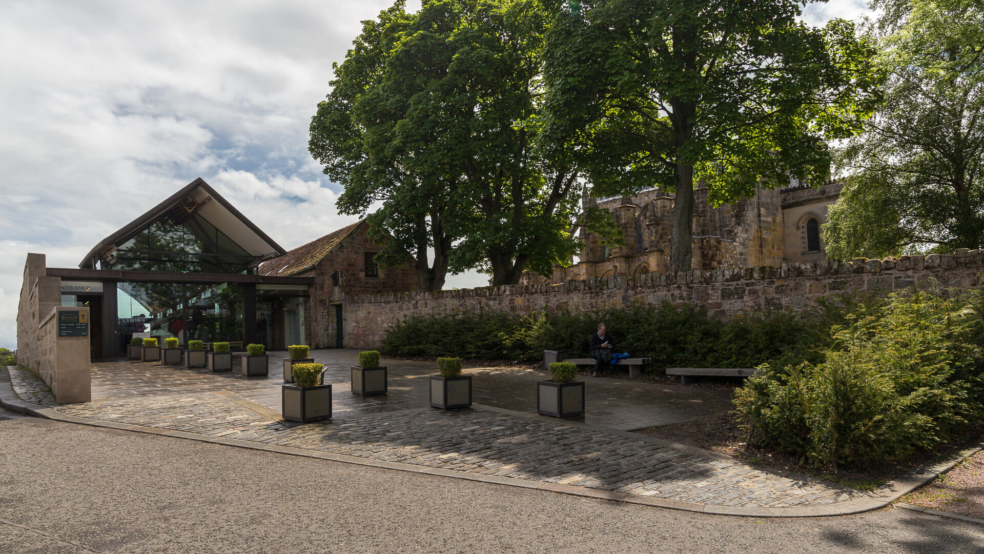 Das moderne Visitor Centre der Kapelle