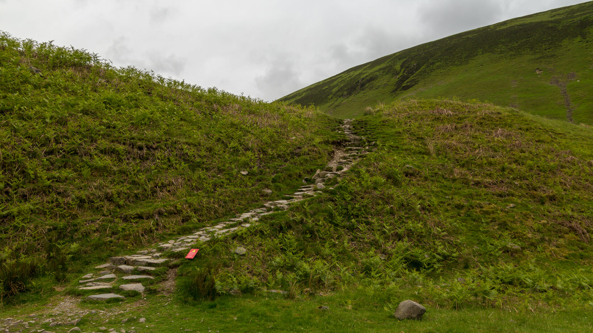 Start des Weges zum Grey Mare's Tail