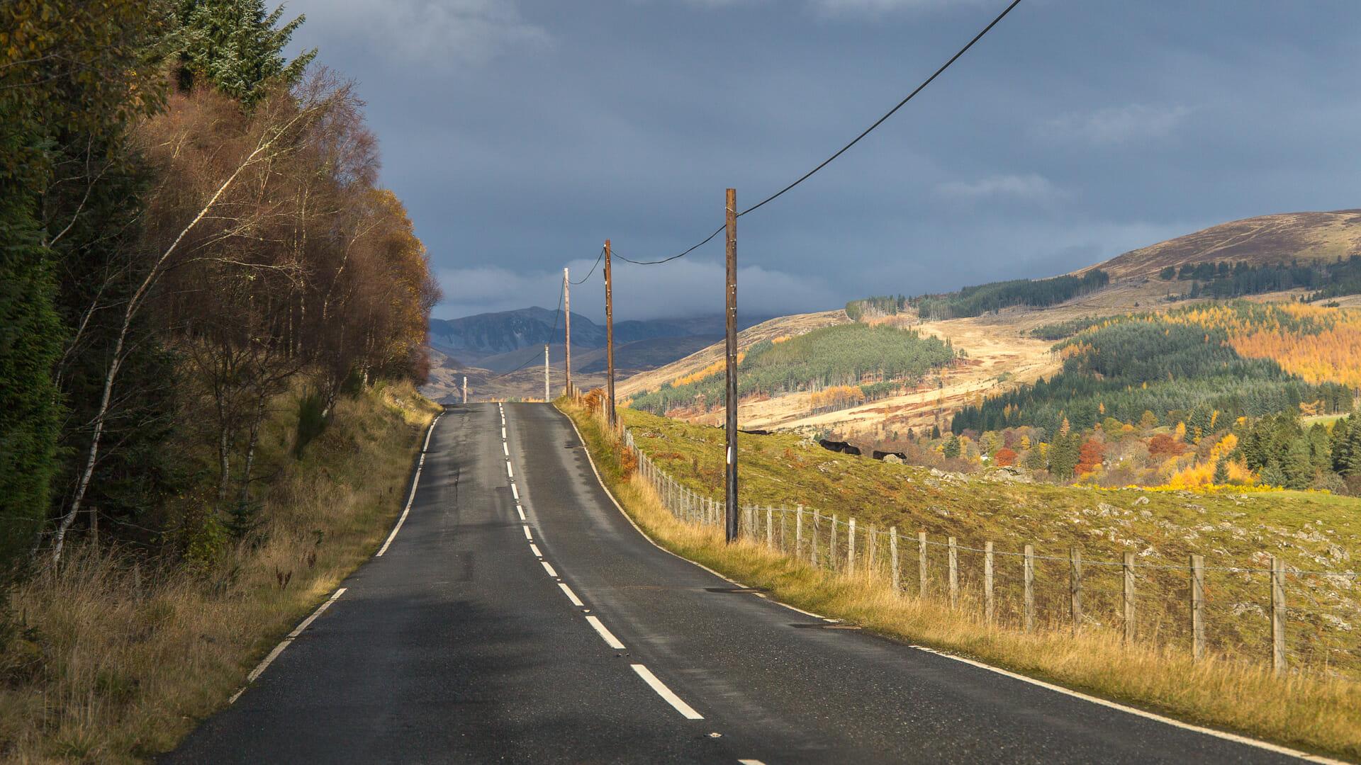 Der Einstieg in die Route kurz vor dem Glen Shee