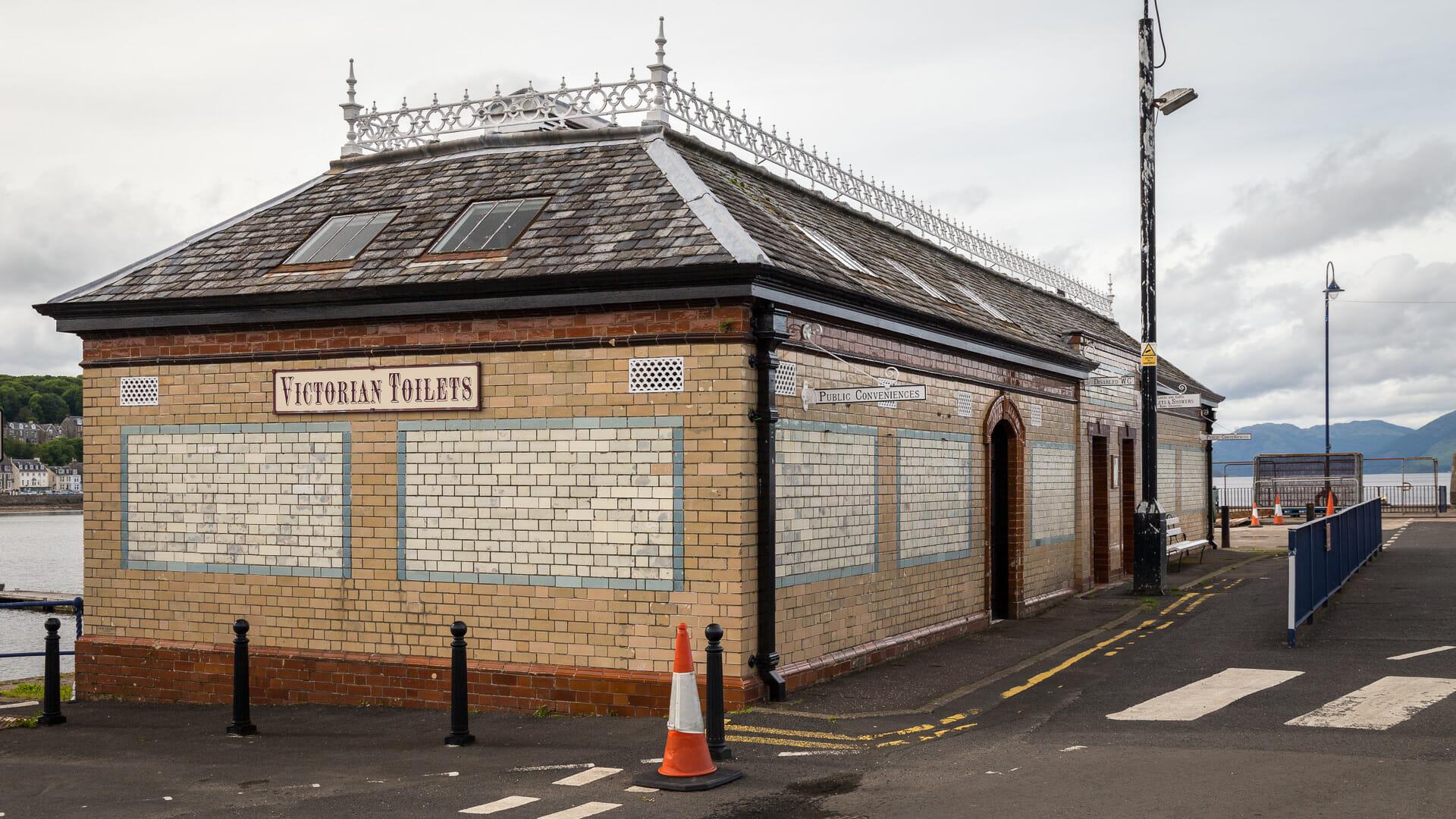 Victorian Toilets von außen