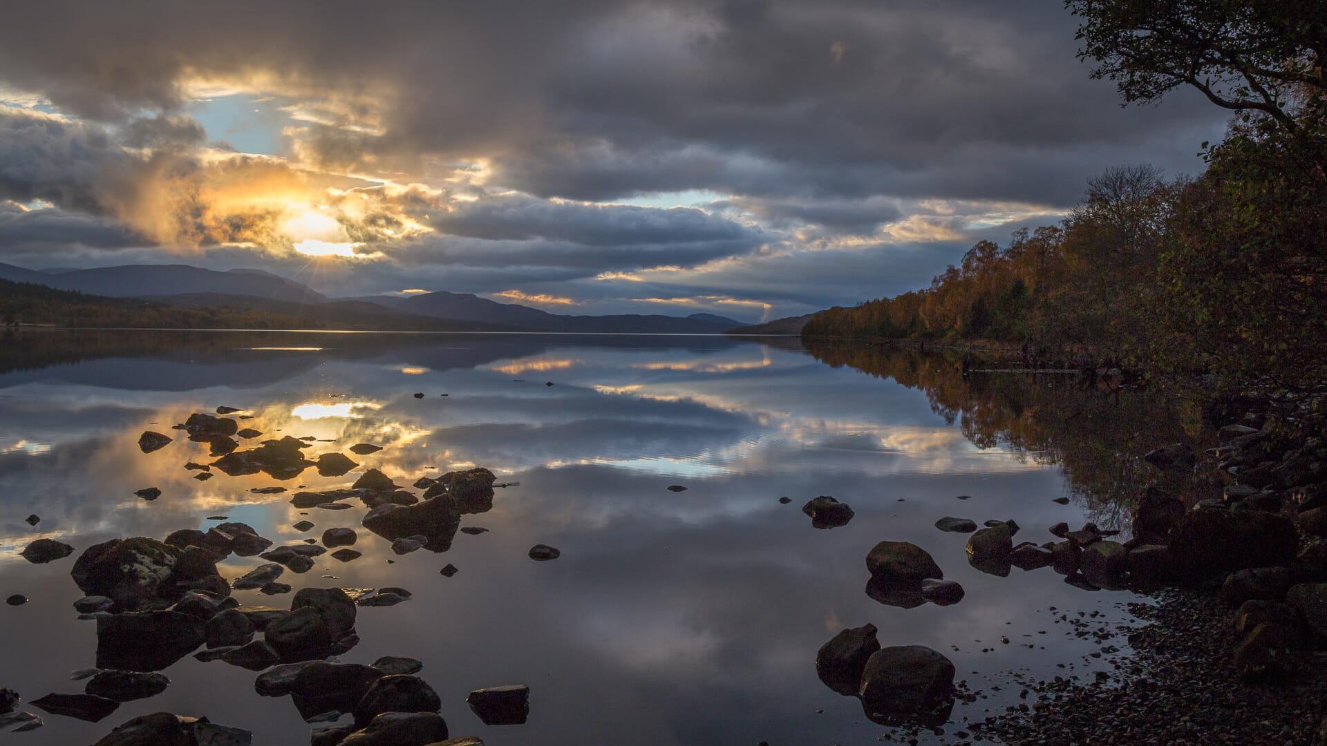 Loch Rannoch am Abend