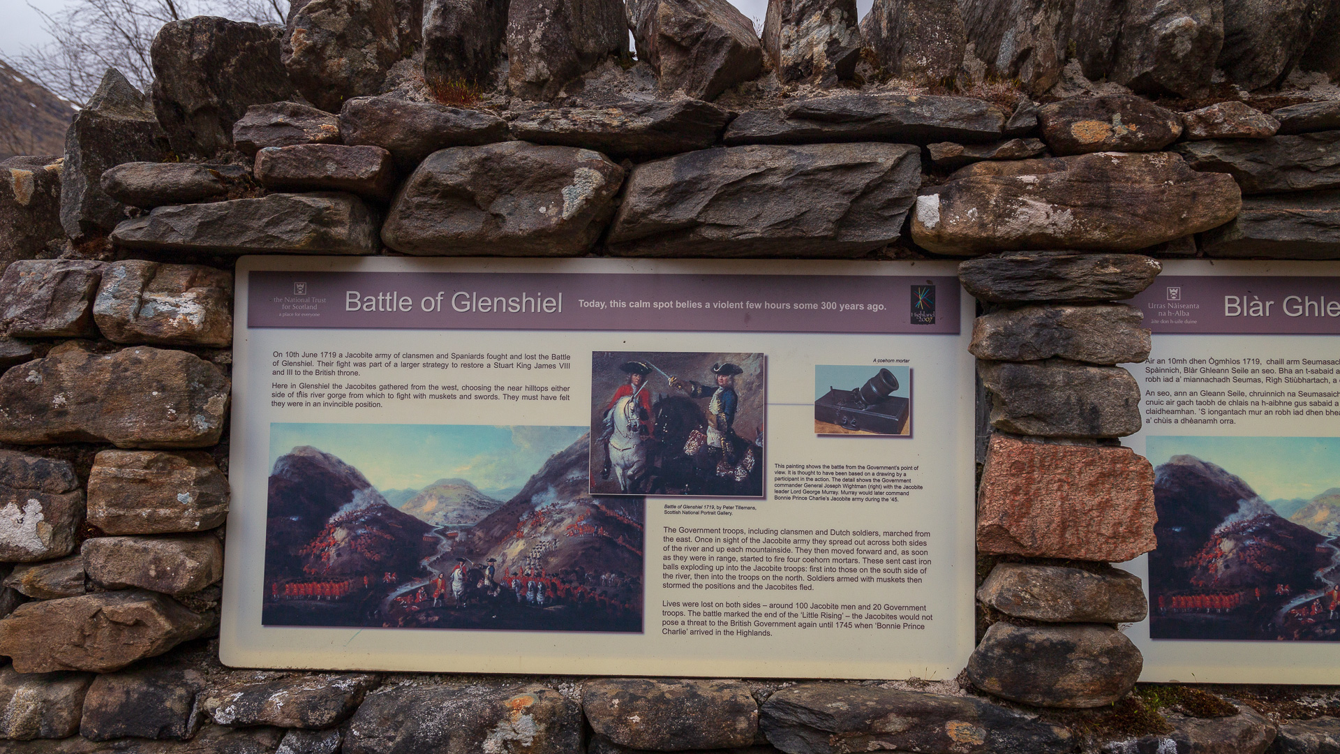 Battle Glenshiel Infotafel
